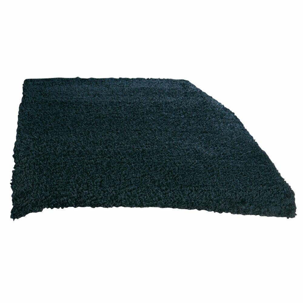 teppich shaggy schwarz 160x230 cm hochflor shaggyteppiche teppiche l ufer deko. Black Bedroom Furniture Sets. Home Design Ideas