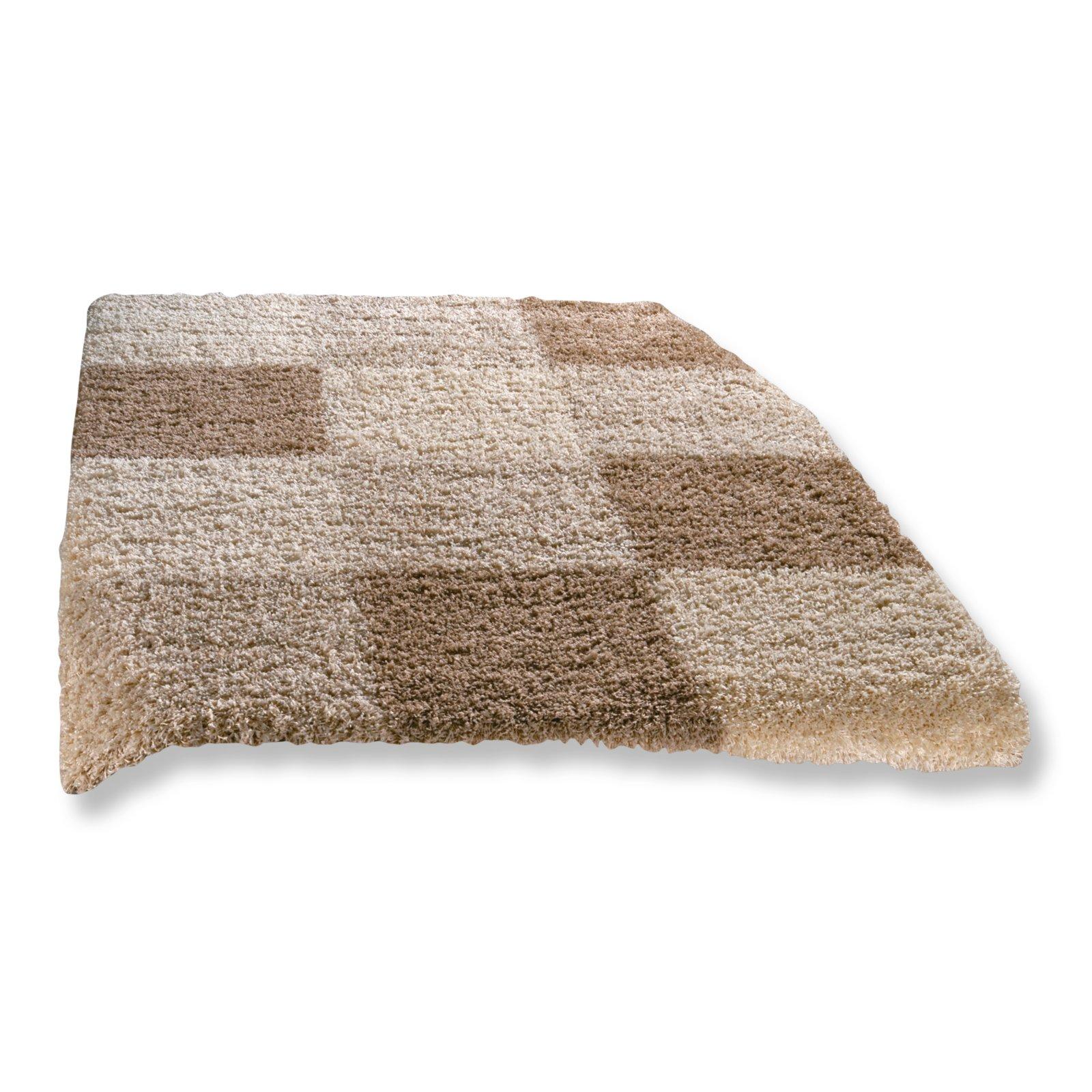 teppich shaggy creme 160x230 cm hochflor shaggyteppiche teppiche l ufer deko. Black Bedroom Furniture Sets. Home Design Ideas