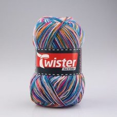 Wolle TWISTER SOX COLOR - pink multi - 100g