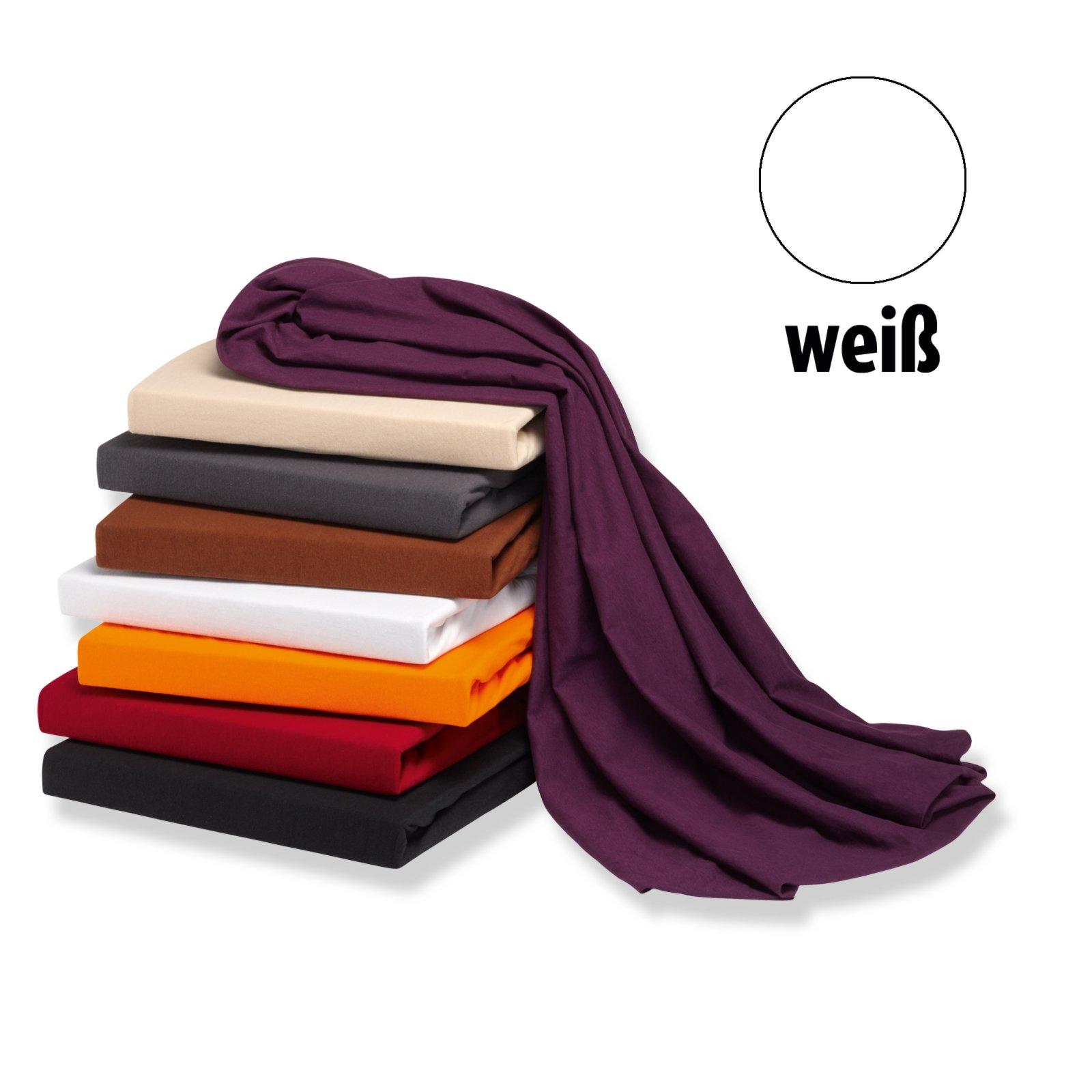 elastic jersey spannbettlaken exclusiv wei 180x200 cm bettlaken bettw sche bettlaken. Black Bedroom Furniture Sets. Home Design Ideas