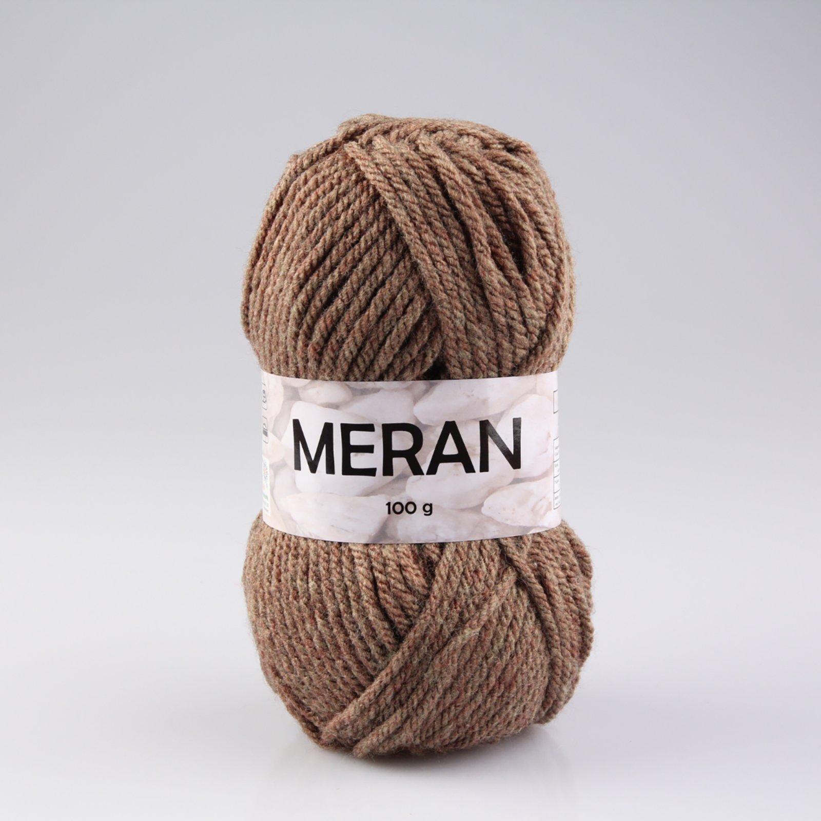 Wolle MERAN - braun - 100g