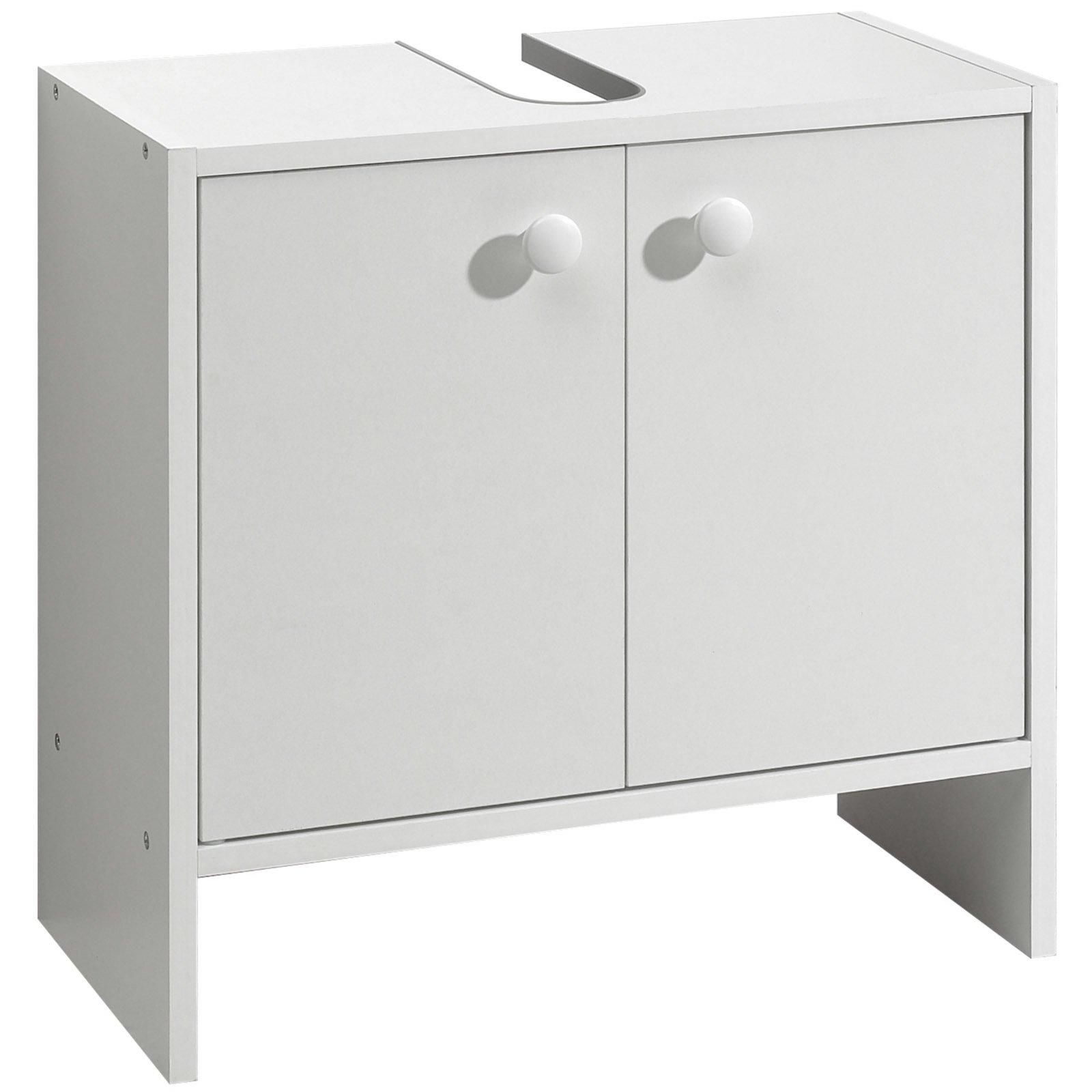 Blickfang Waschbeckenunterschrank Foto Von - Weiß - Mit Schnitt