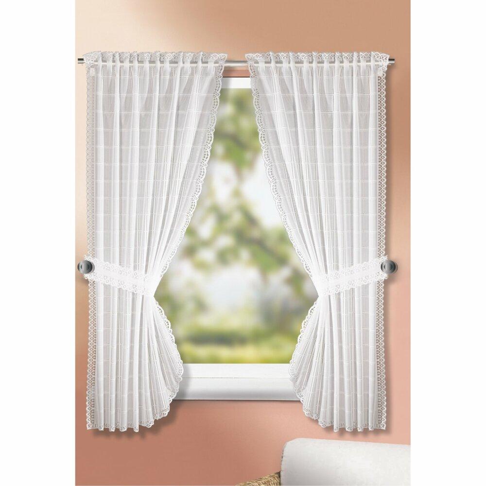 landhausgardinen set wei 90x160 cm transparente gardinen vorh nge gardinen vorh nge. Black Bedroom Furniture Sets. Home Design Ideas