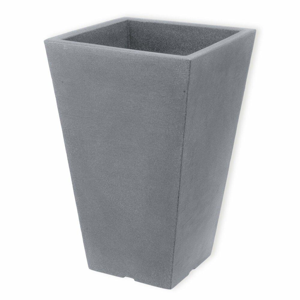 pflanzk bel hellgrau quadratisch 55 cm hoch blument pfe pflanzgef e gartenm bel. Black Bedroom Furniture Sets. Home Design Ideas