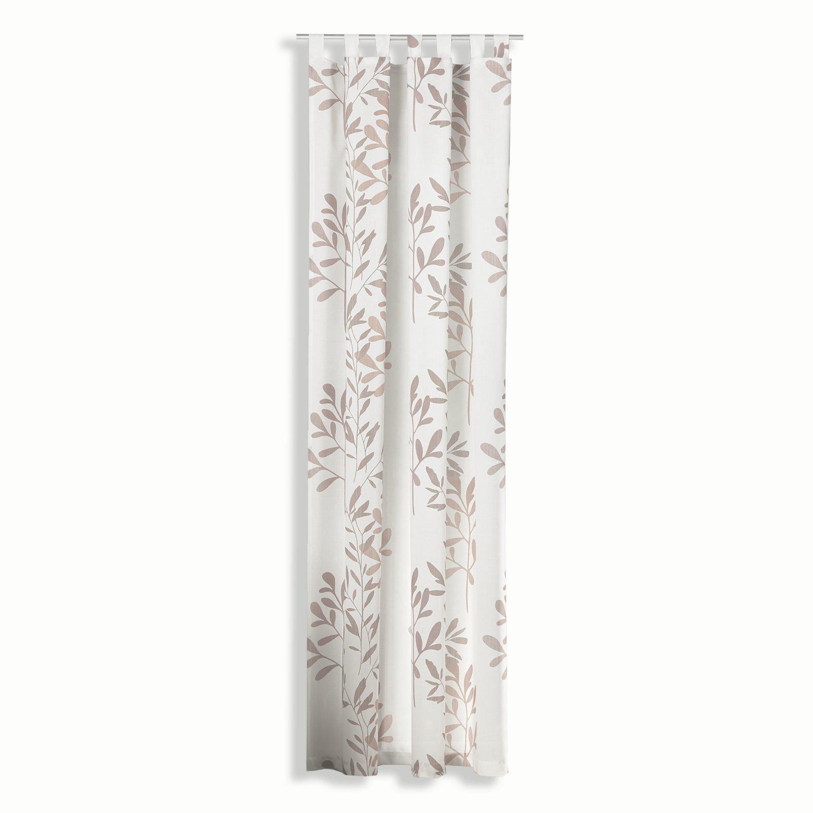 Floweroom Taupe Verdunkelungsvorhänge Blickdichte Gardinen: Schlaufenvorhang CARENA - Taupe - 140x245 Cm