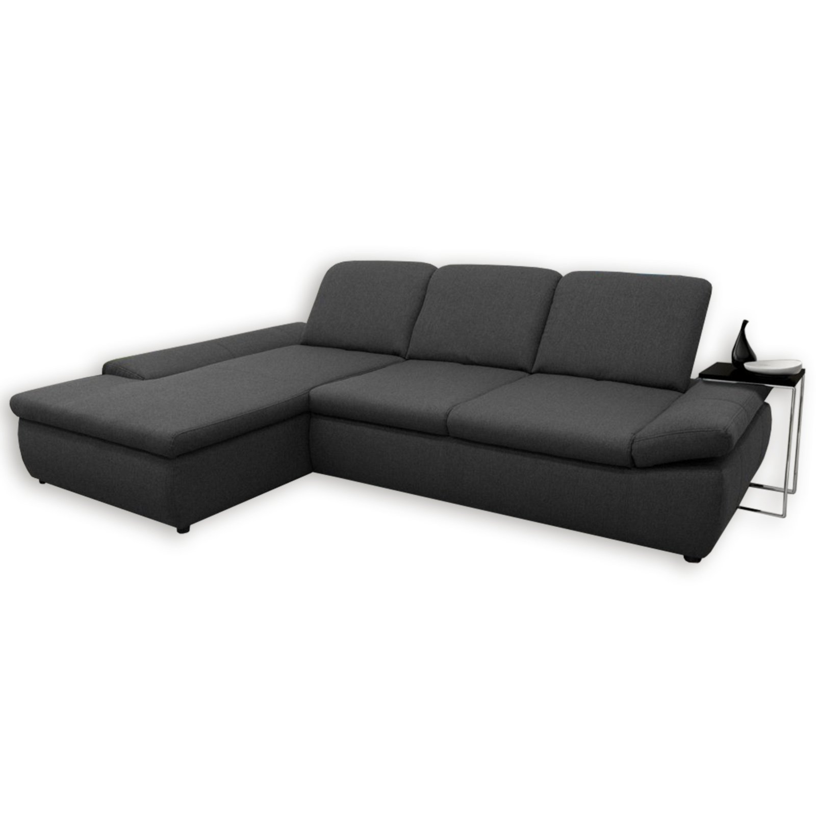 boxspringsofa anthrazit mit funktionen recamiere links ecksofas l form sofas couches. Black Bedroom Furniture Sets. Home Design Ideas