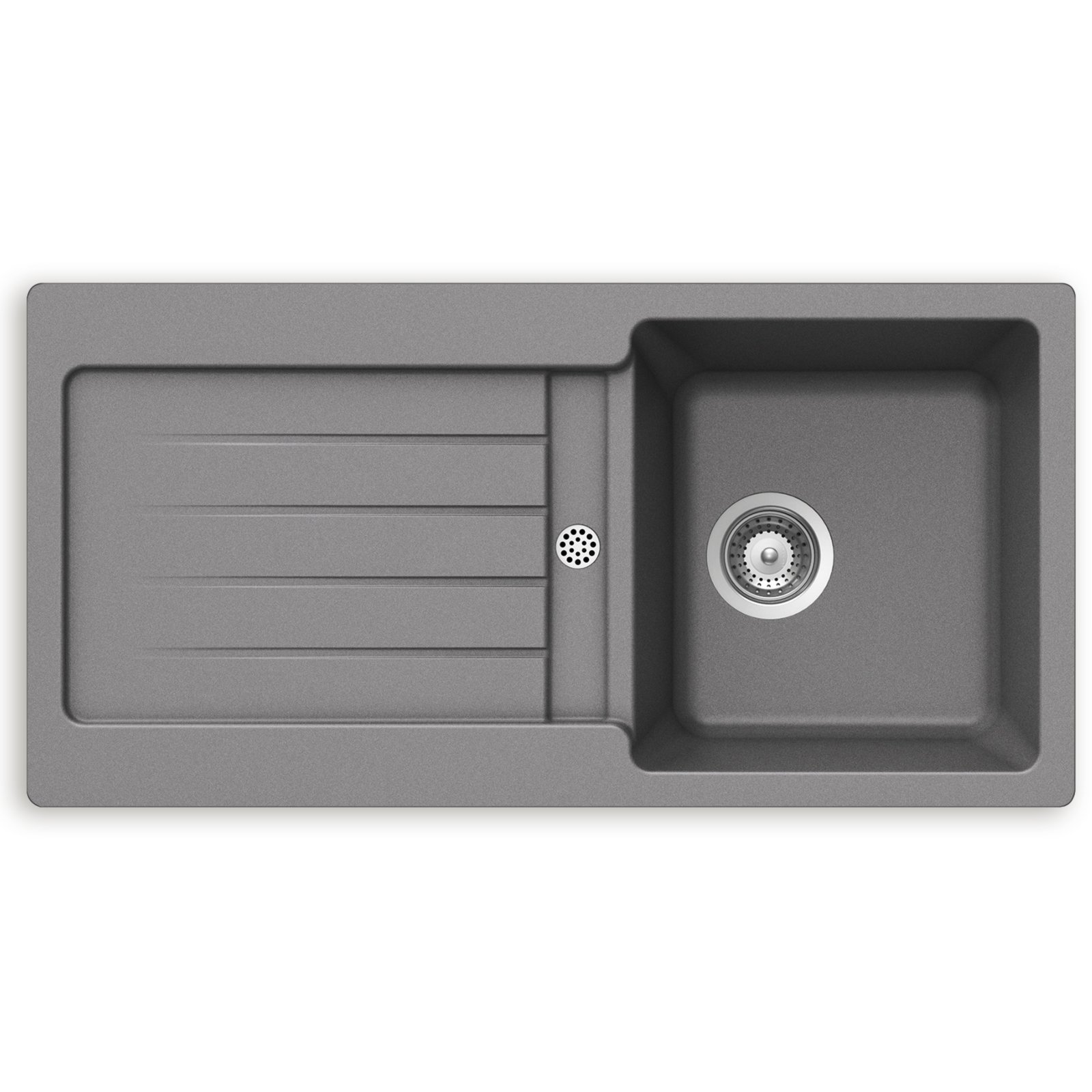 granit einbausp le zako grau unterschr nke ab 45 cm. Black Bedroom Furniture Sets. Home Design Ideas