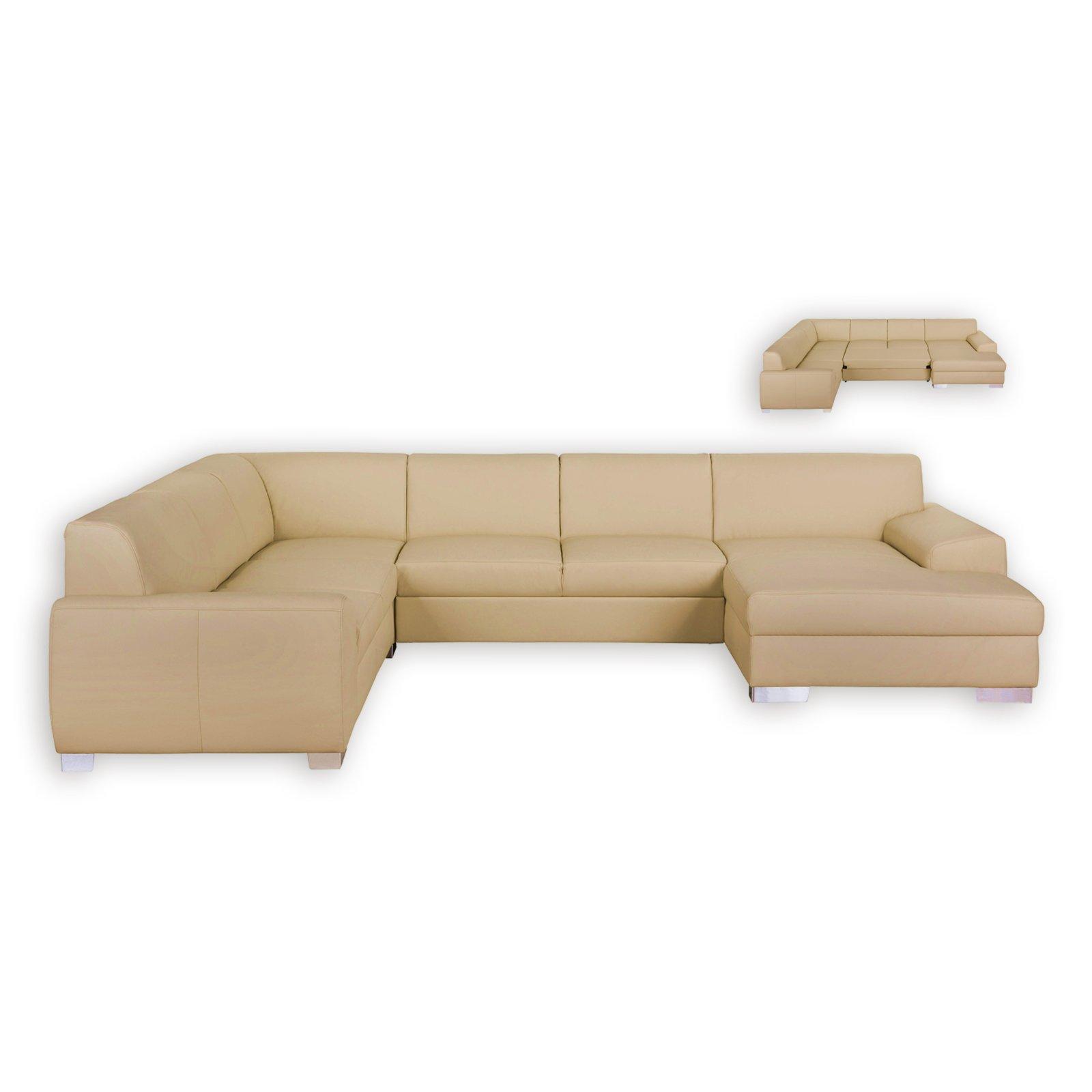 wohnlandschaft beige liegefunktion recamiere rechts wohnlandschaften u form sofas. Black Bedroom Furniture Sets. Home Design Ideas