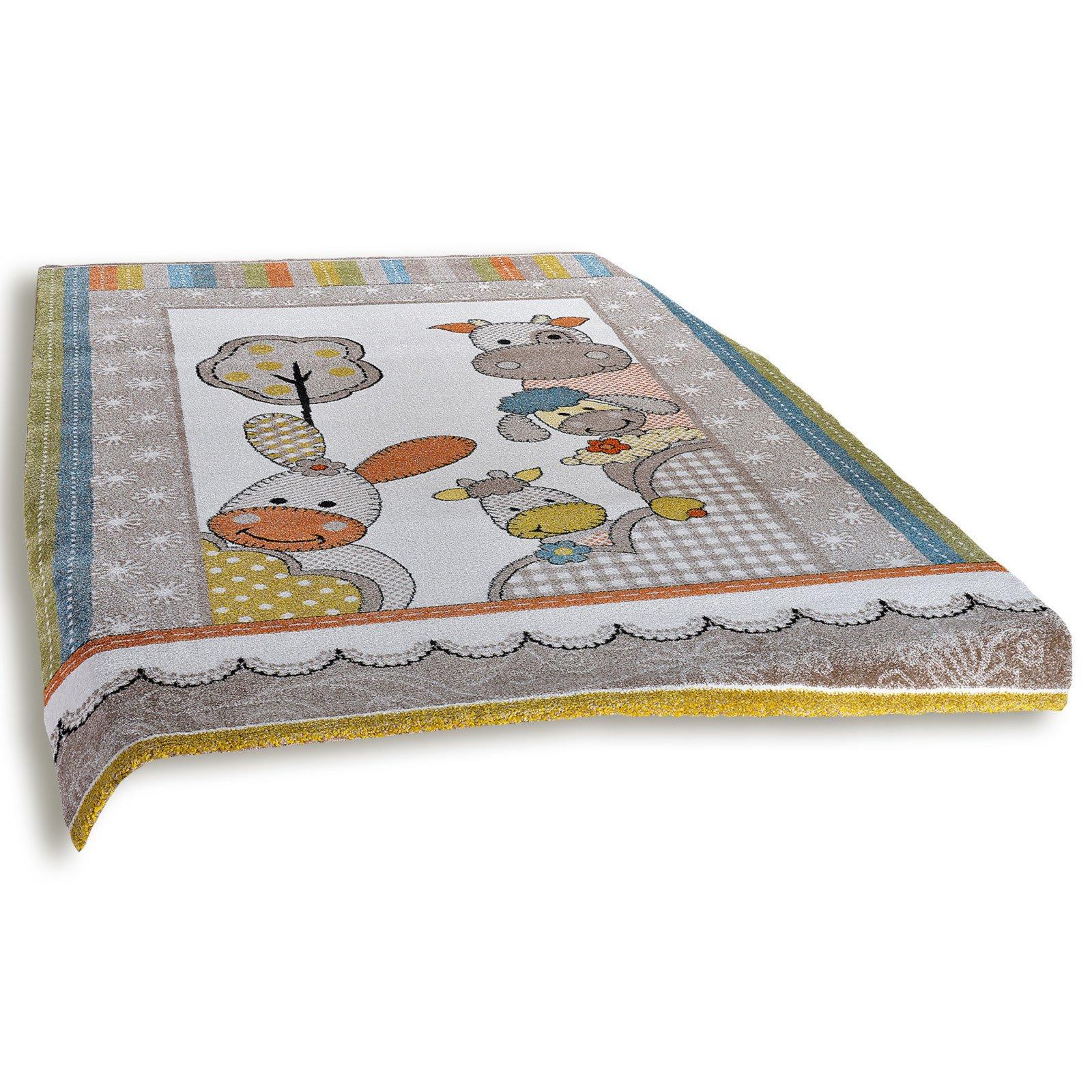 frisee teppich diamond kids mehrfarbig 120x170 cm kinder spielteppiche teppiche. Black Bedroom Furniture Sets. Home Design Ideas