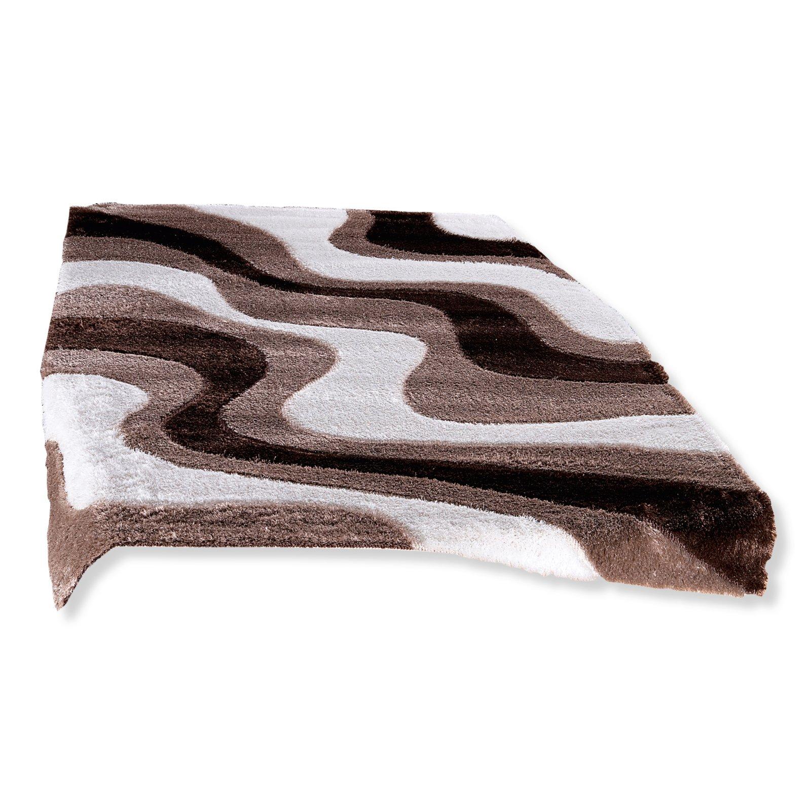 hochflor teppich paris lurex braun 120x170 cm. Black Bedroom Furniture Sets. Home Design Ideas