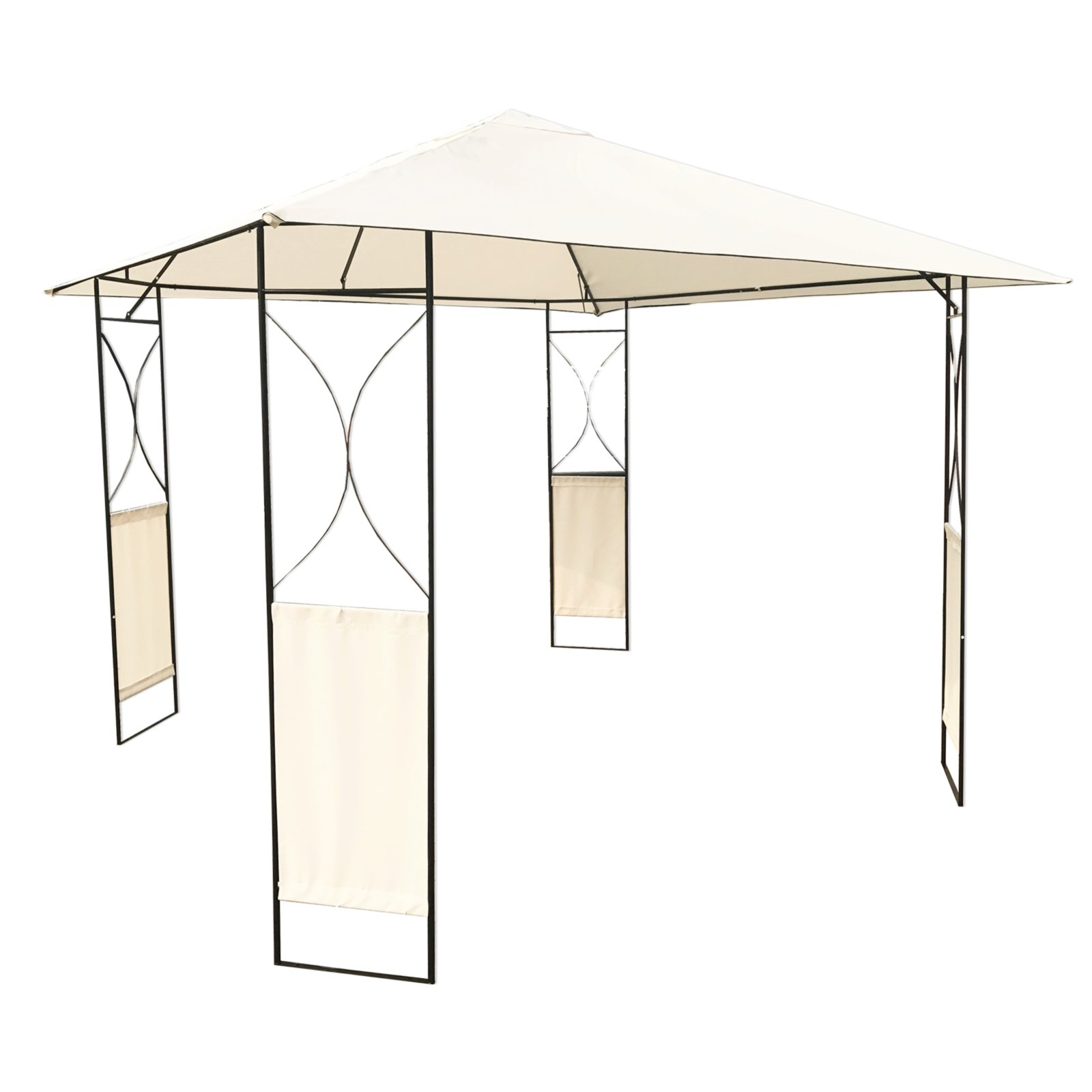 pavillon metall 3x3 meter pavillons sonnen sichtschutz garten roller m belhaus. Black Bedroom Furniture Sets. Home Design Ideas