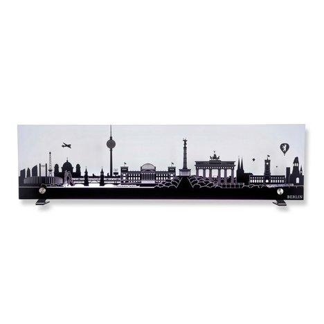 Leuchte SKYLINE - Berlin - Glas - anthrazit