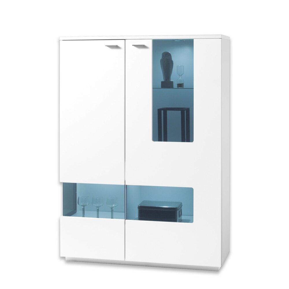 highboard como wei 112 cm breit kommoden sideboards m bel roller. Black Bedroom Furniture Sets. Home Design Ideas