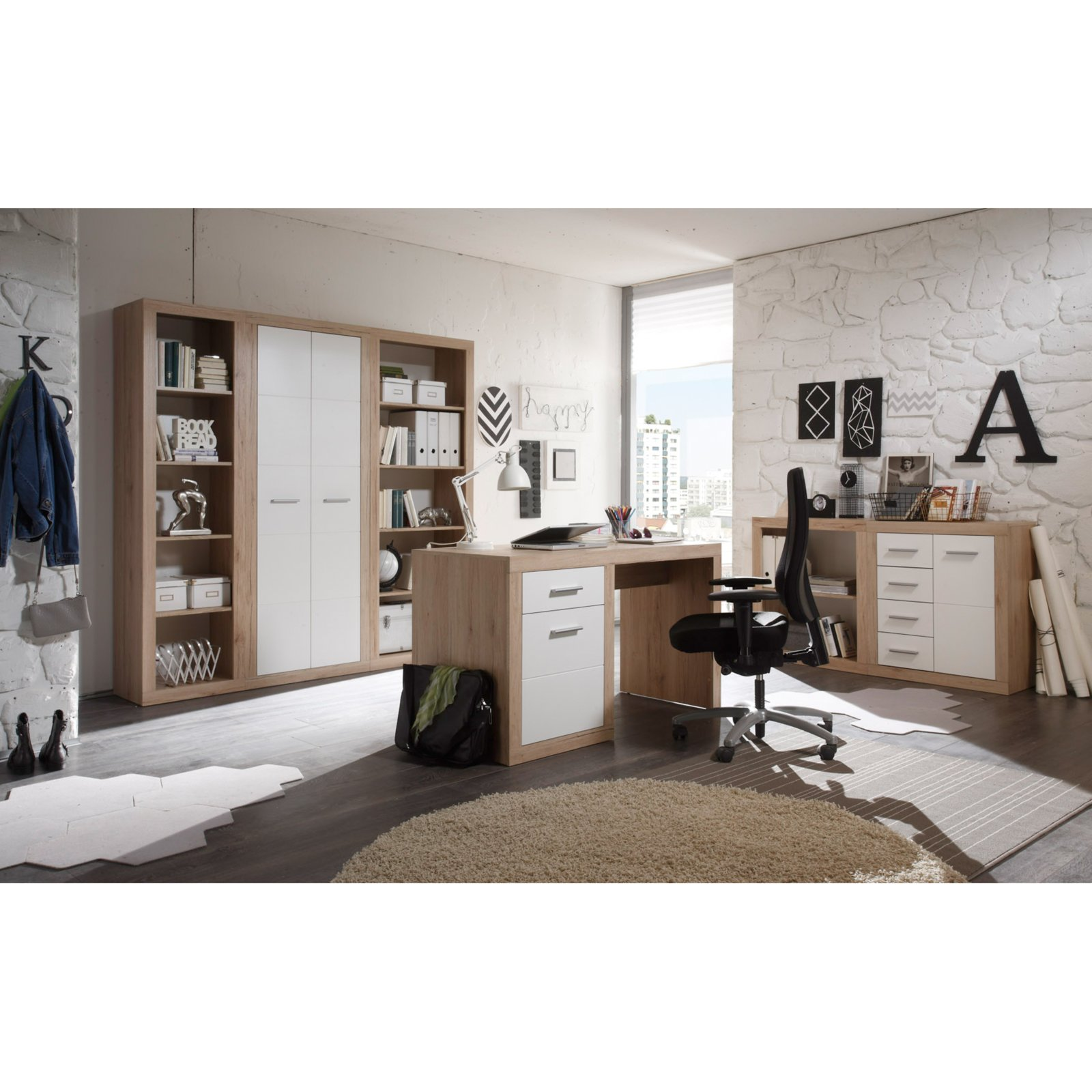 kommode can can san remo eiche 74 cm breit ebay. Black Bedroom Furniture Sets. Home Design Ideas