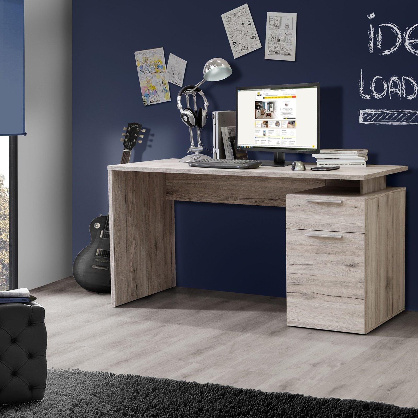 roller schreibtisch net sandeiche 140 cm breit ebay. Black Bedroom Furniture Sets. Home Design Ideas