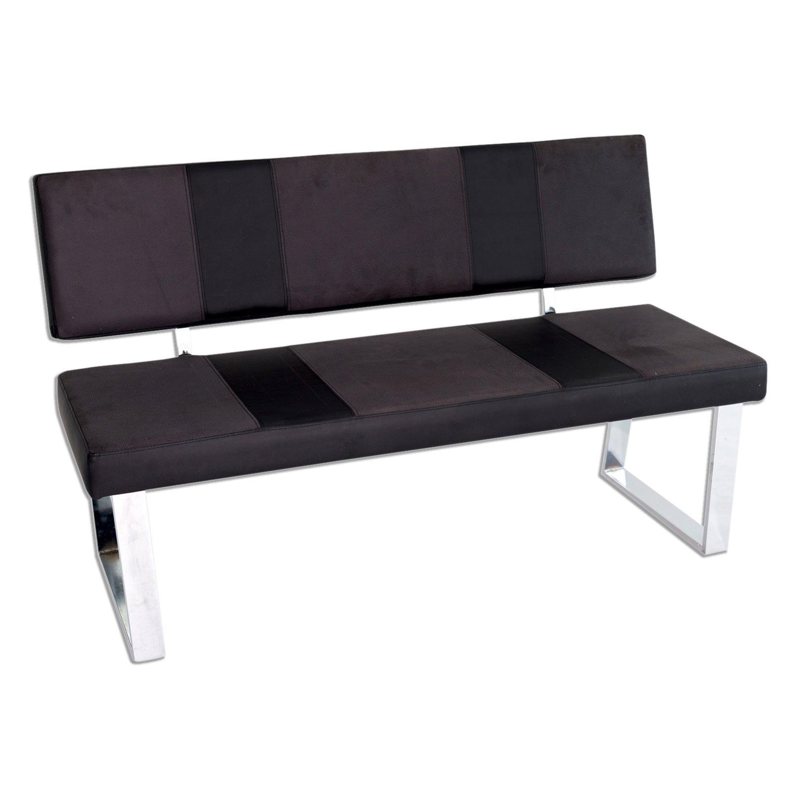 bank st bari grau schwarz breit 140 cm sitzb nke. Black Bedroom Furniture Sets. Home Design Ideas