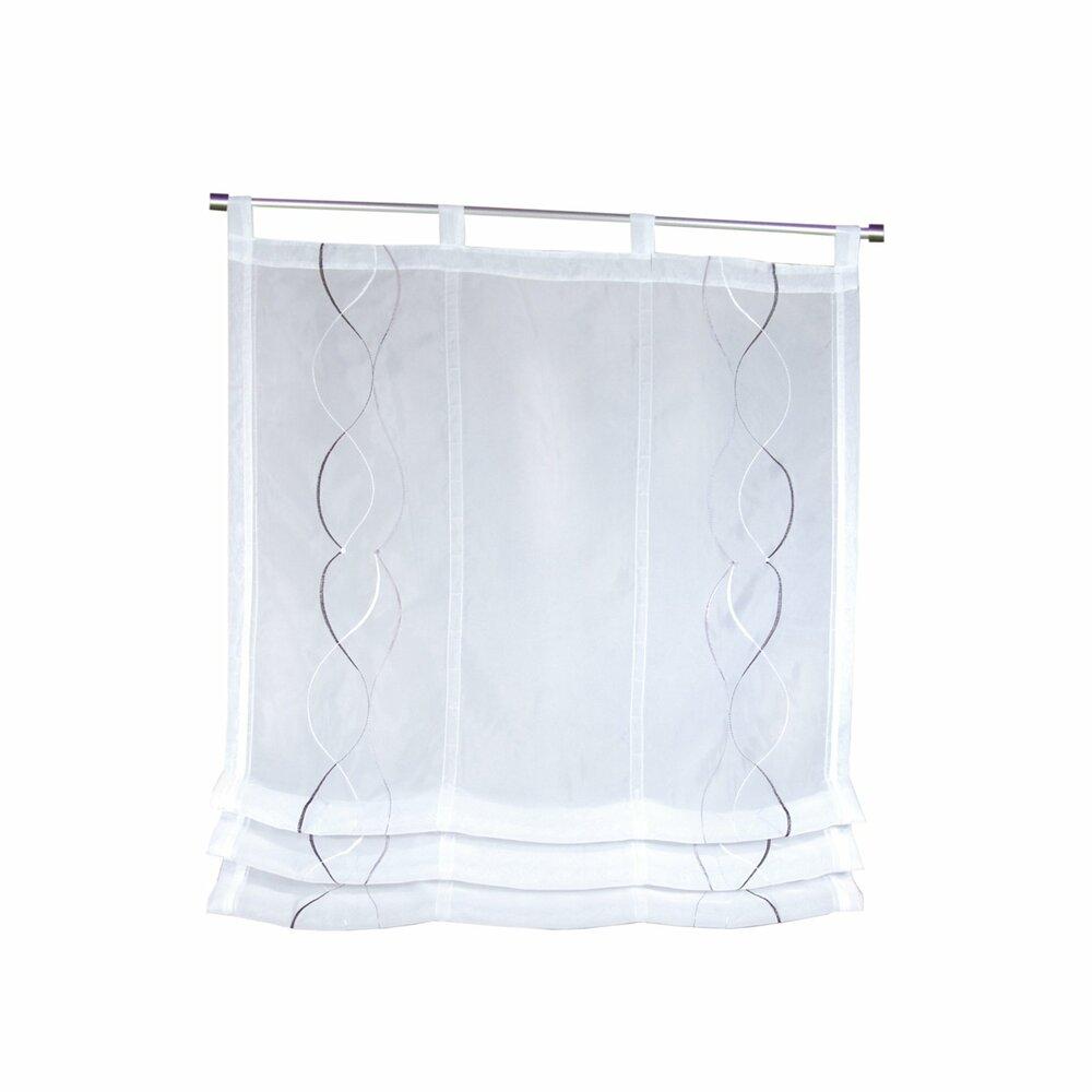 raffrollo wei silber 80x120 cm transparente raffrollos raffrollos rollos jalousien. Black Bedroom Furniture Sets. Home Design Ideas