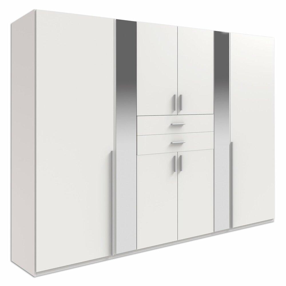 dreht renschrank vanea wei 2 spiegel 270 cm breit. Black Bedroom Furniture Sets. Home Design Ideas