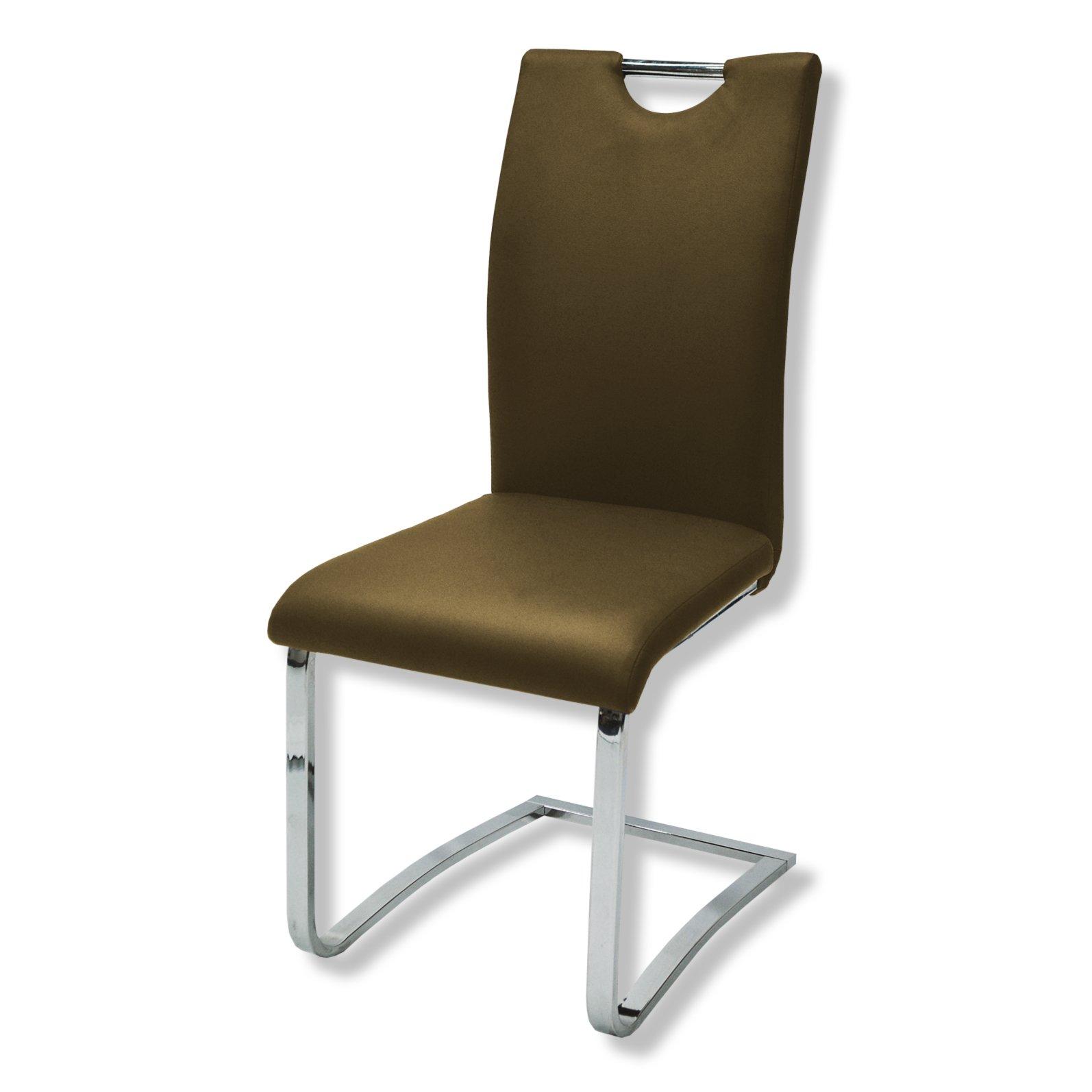 freischwinger belluno braun kunstleder stahl. Black Bedroom Furniture Sets. Home Design Ideas
