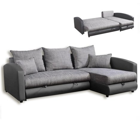ecksofa hellgrau grau mit liegefunktion ecksofas l form sofas couches m bel roller. Black Bedroom Furniture Sets. Home Design Ideas