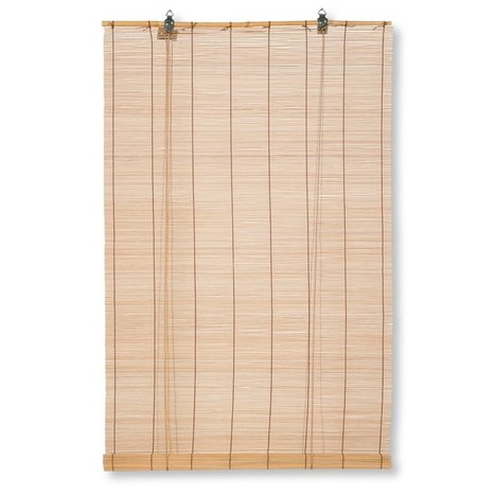 bambus raffrollo hellbraun 80x160 cm bambusrollos rollos jalousien deko haushalt. Black Bedroom Furniture Sets. Home Design Ideas