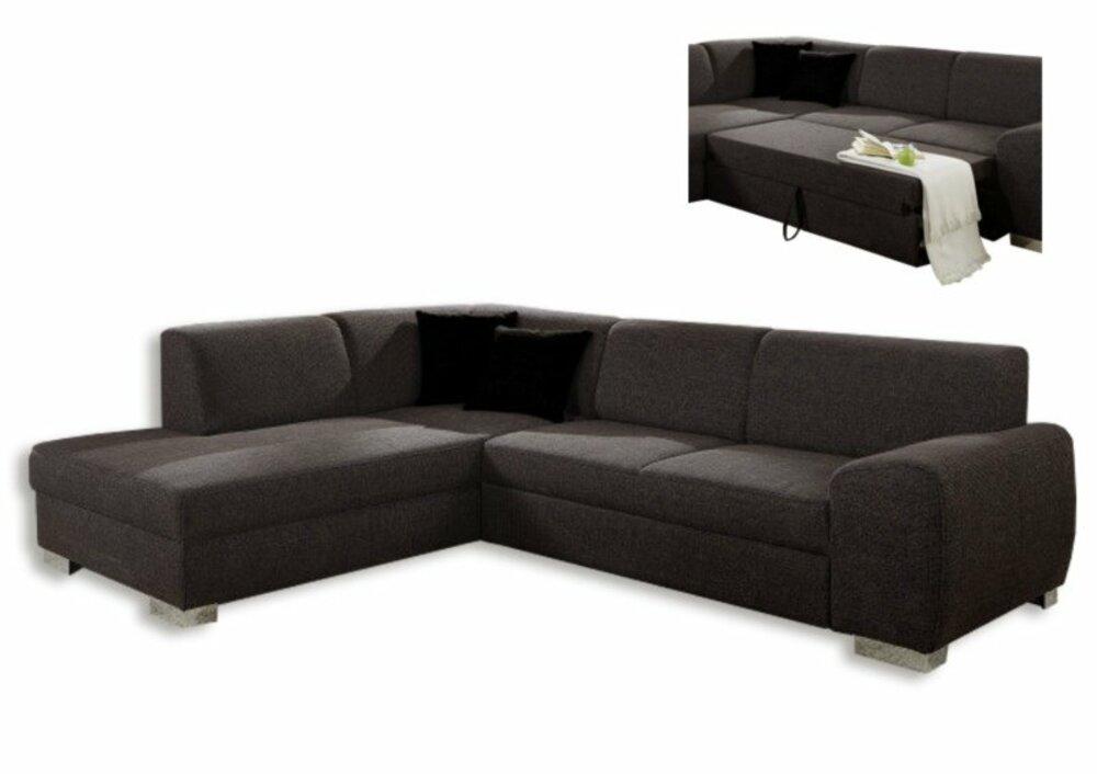 polsterecke dunkelbraun federkern liegefuntion rechts ecksofas l form sofas couches. Black Bedroom Furniture Sets. Home Design Ideas
