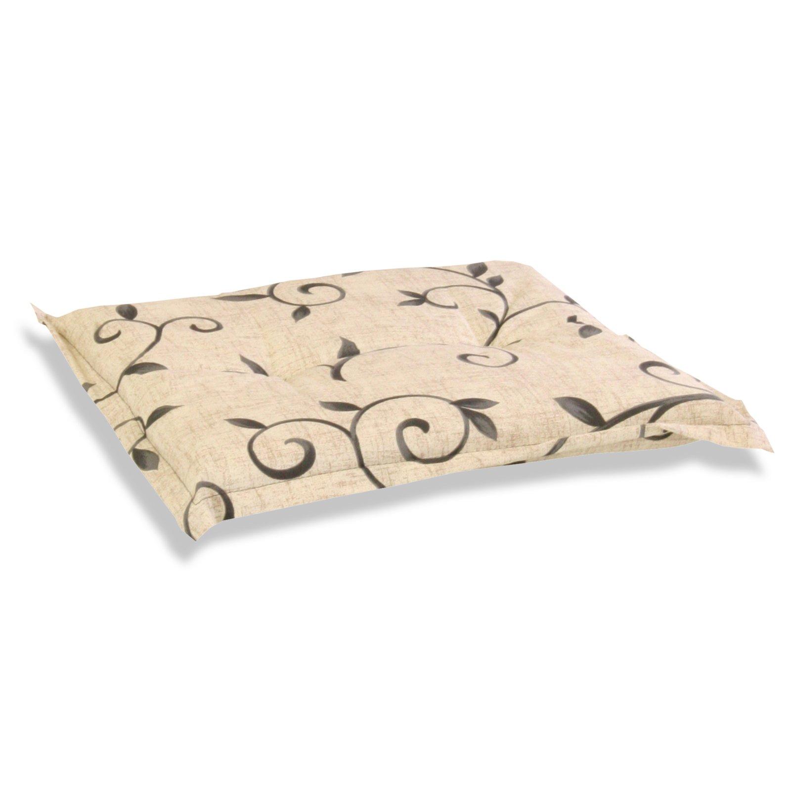 sitzkissen saragossa beige ranken auflagen f r. Black Bedroom Furniture Sets. Home Design Ideas