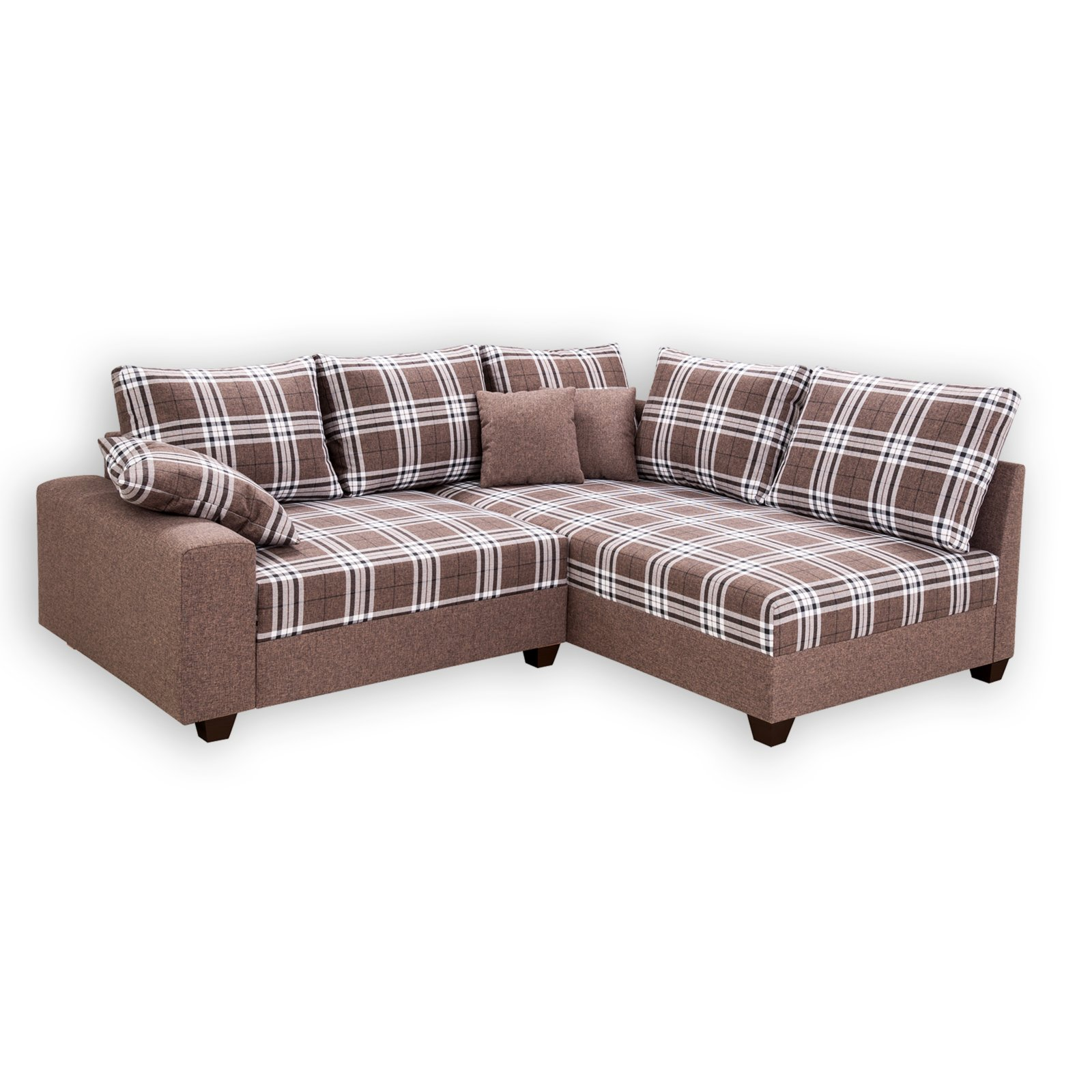 Ecksofa braun kariert landhausstil ecksofas l form for Ecksofa landhausstil
