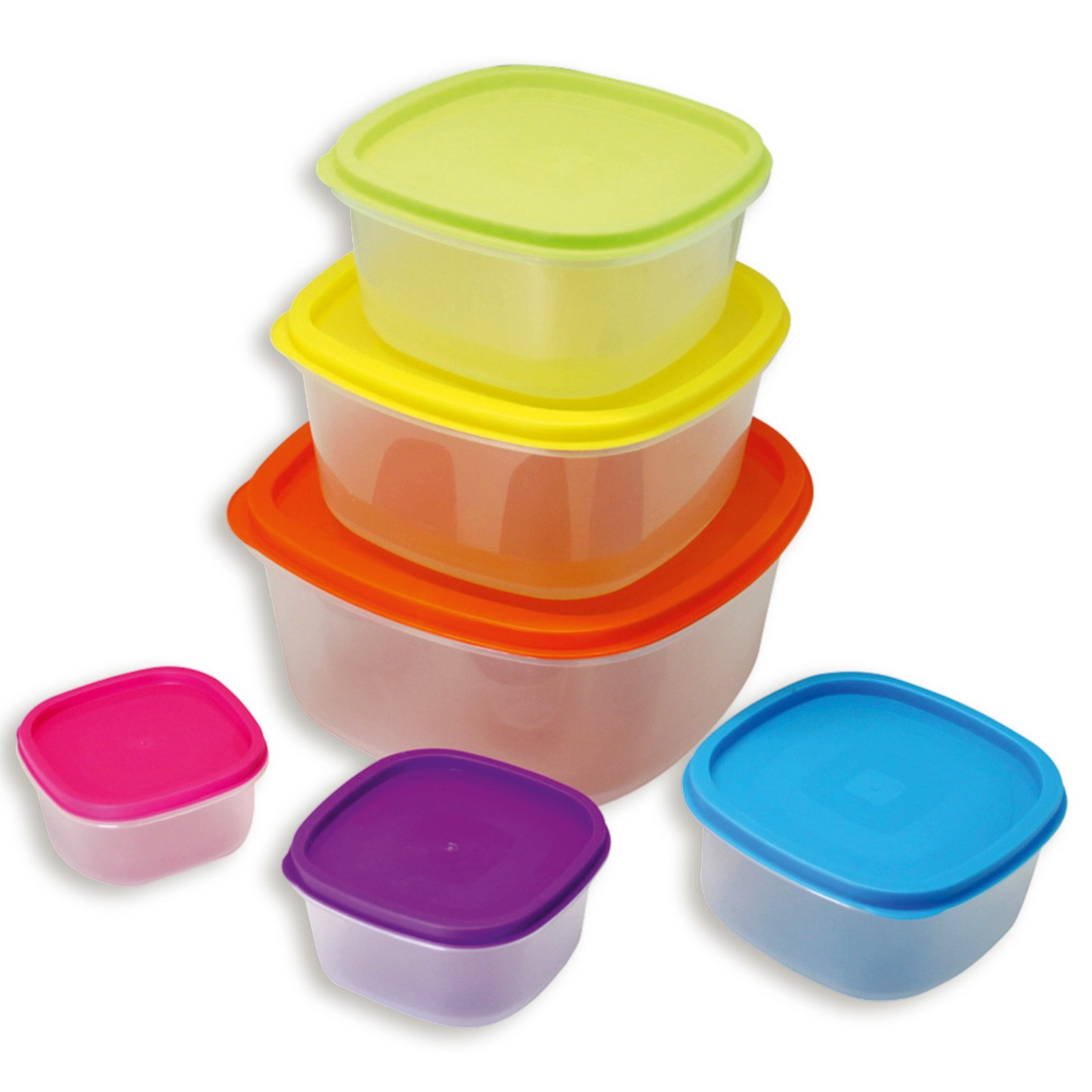12-teiliges Dosen-Set - bunt - Kunststoff