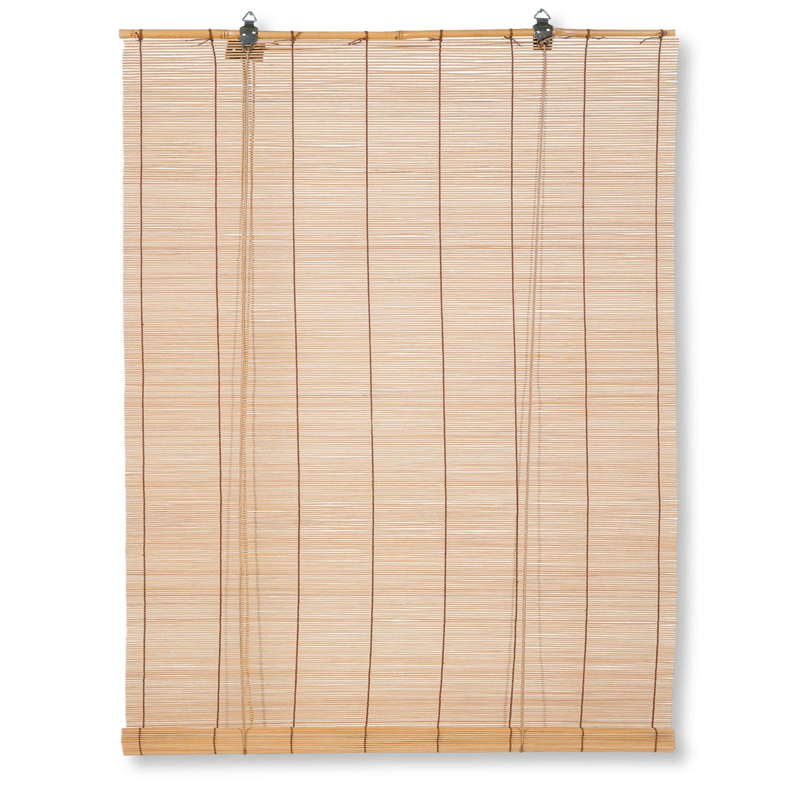 bambus raffrollo hellbraun 100x160 cm bambusrollos rollos jalousien deko haushalt