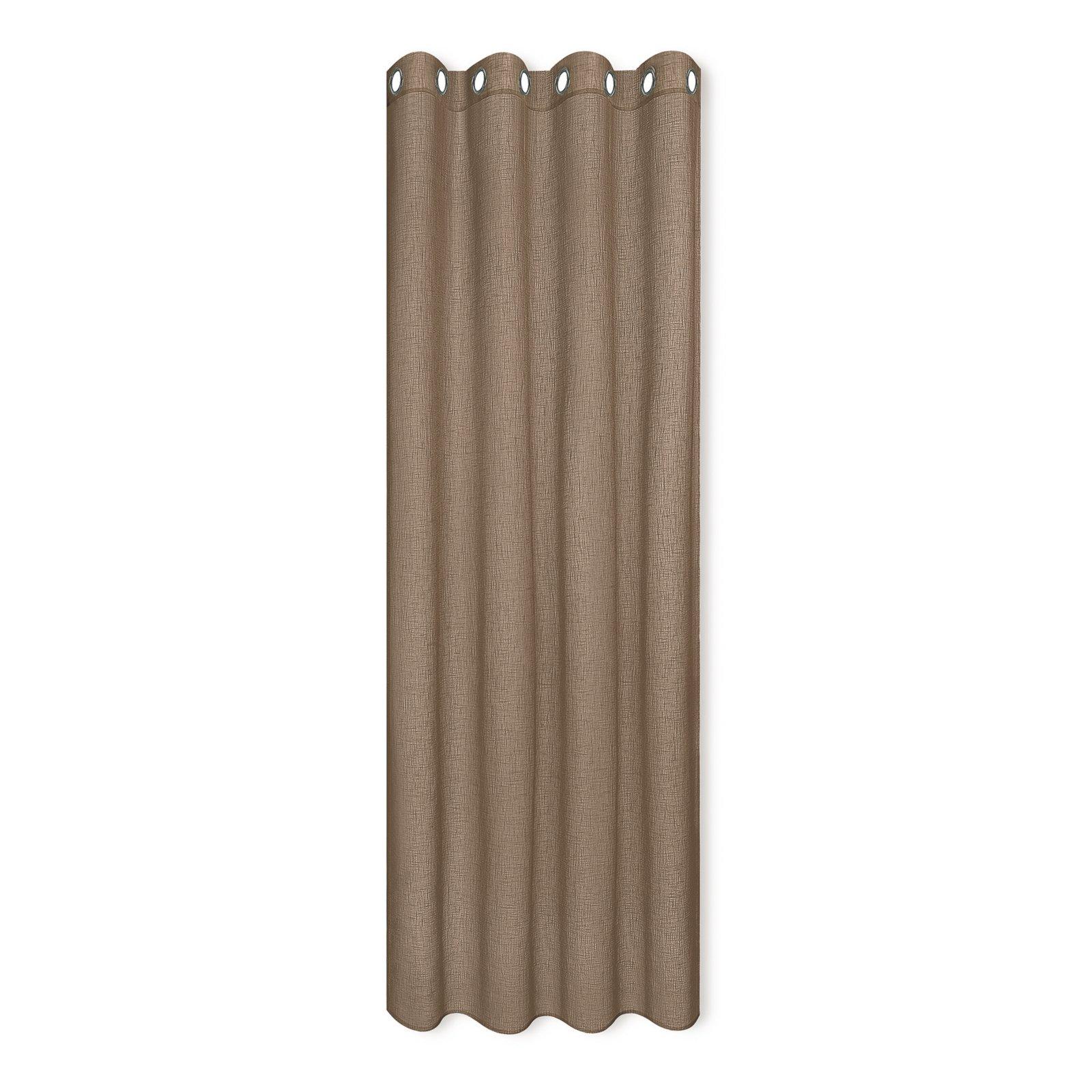 senschal taupe 140x235 cm transparente gardinen. Black Bedroom Furniture Sets. Home Design Ideas