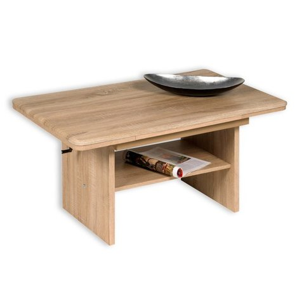couchtisch luzern sonoma eiche ausziehbar couchtische wohnzimmer wohnbereiche roller. Black Bedroom Furniture Sets. Home Design Ideas