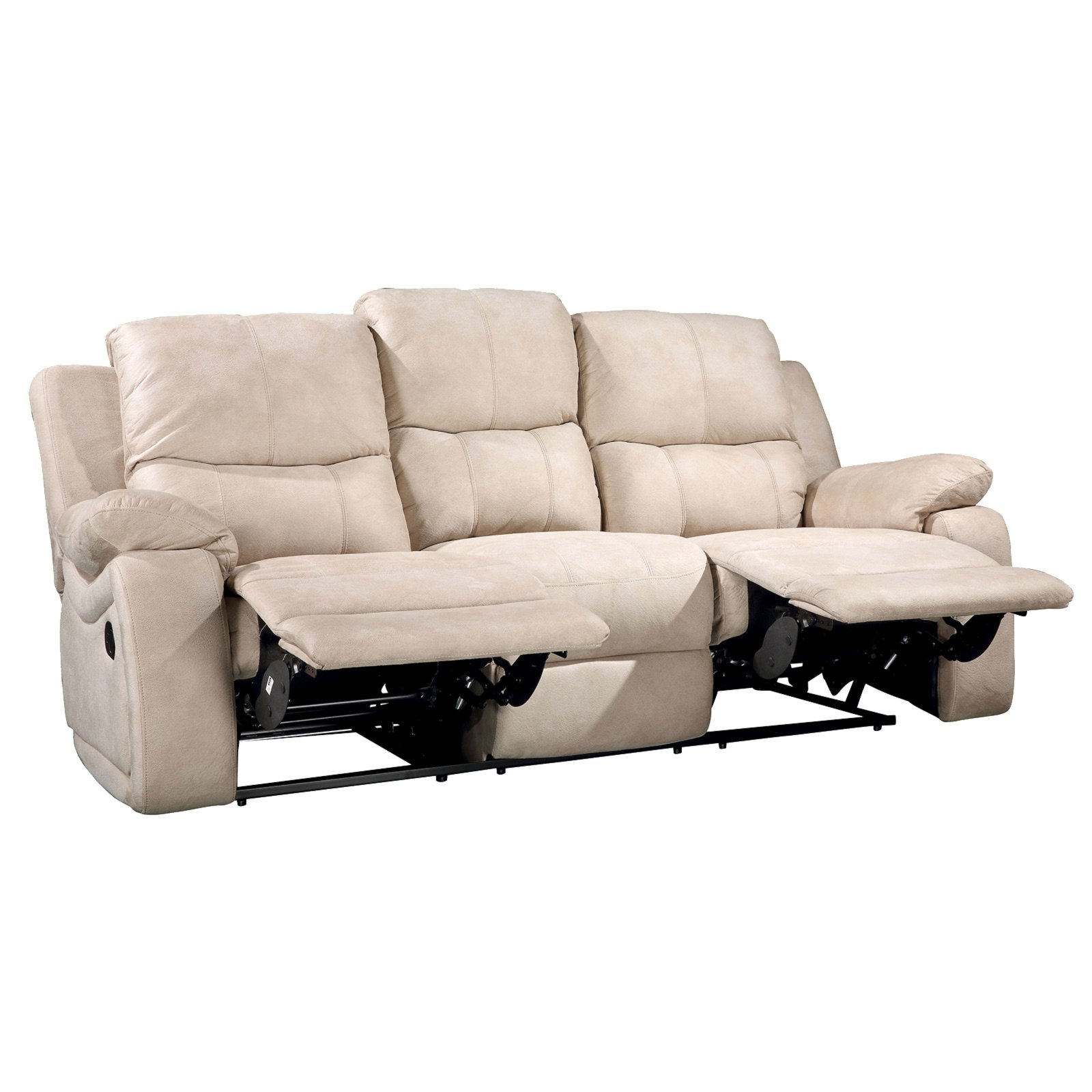 Set Rosa 2 Sofas Mit Sessel Mit Relaxfunktion
