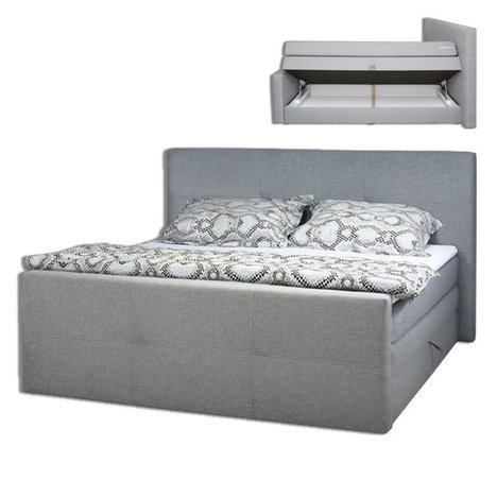 boxspringbett havana hellgrau taschenfederkern h3 180x200 cm h3 boxspringbetten. Black Bedroom Furniture Sets. Home Design Ideas