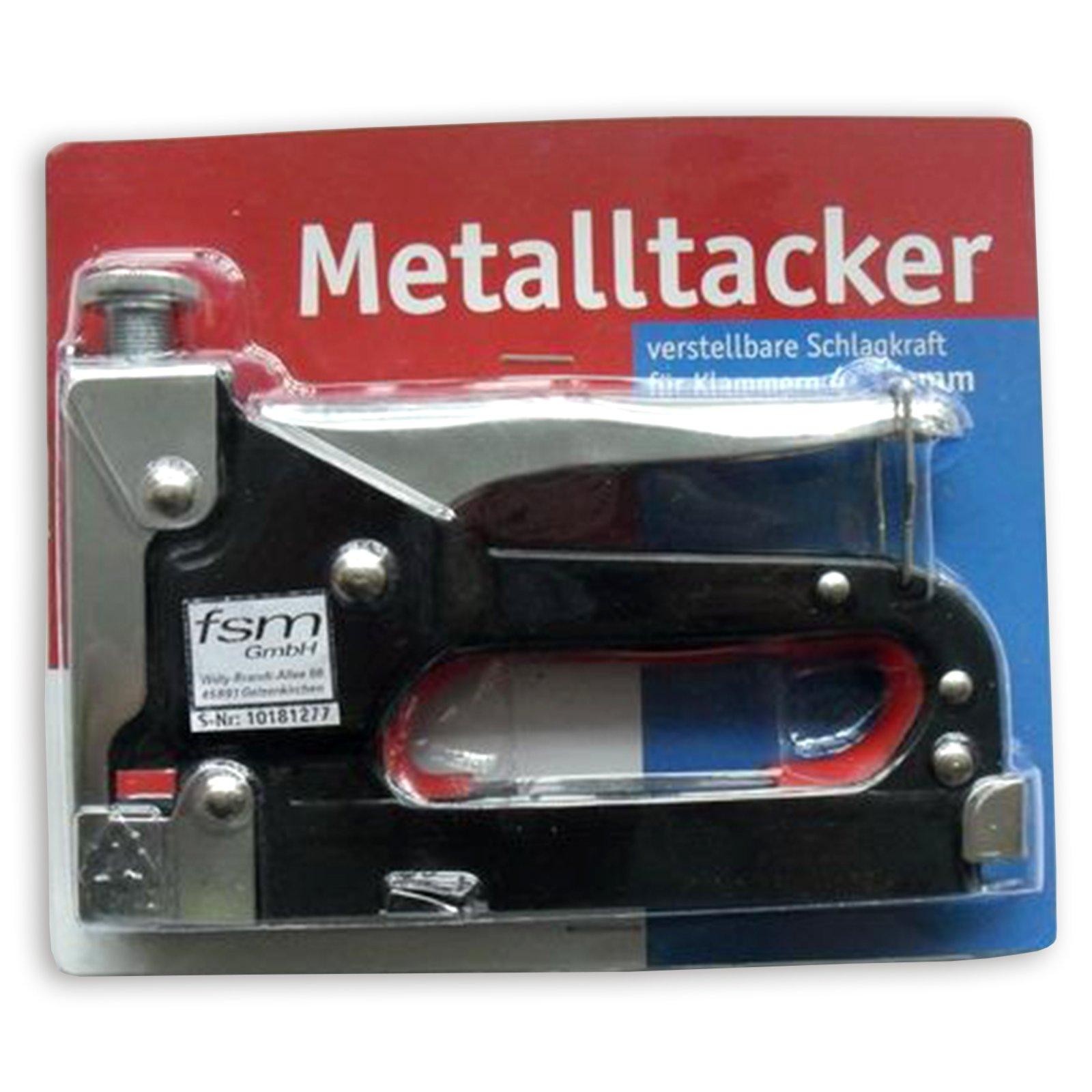 Metalltacker - verstellbare Schlagkraft - 4-14 mm