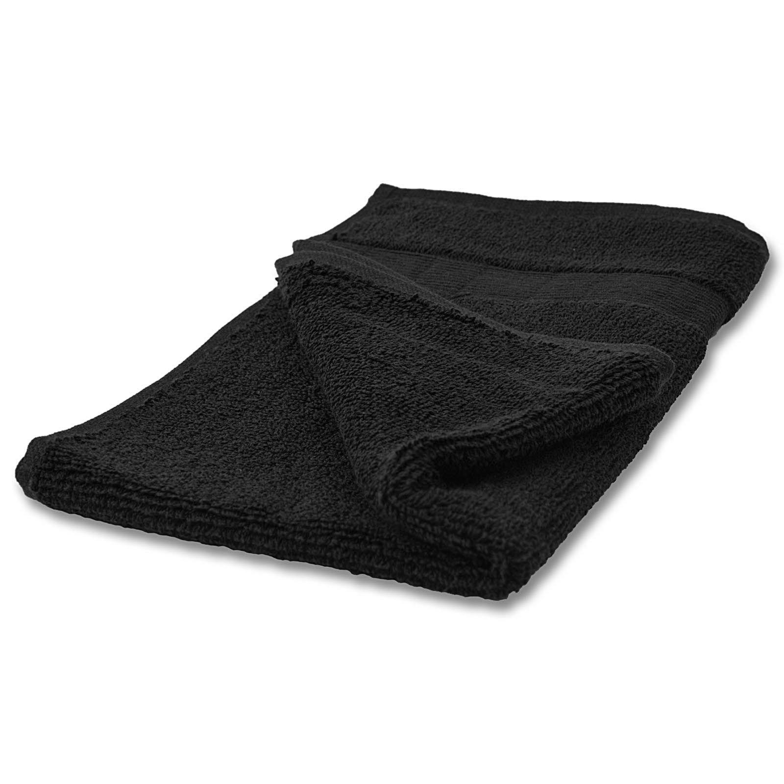 Gästehandtuch CAESAR - schwarz - Baumwolle - 30x50 cm