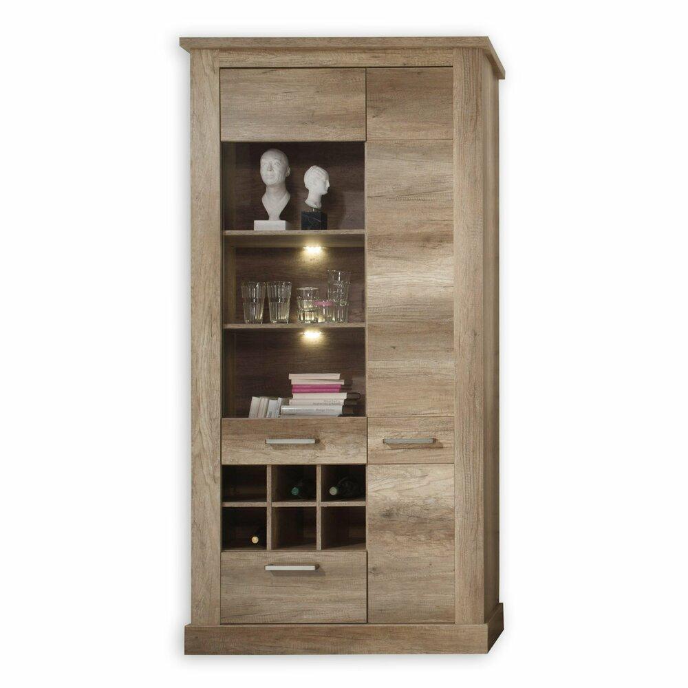 vitrine montreal eiche antik 106 cm breitangebot bei. Black Bedroom Furniture Sets. Home Design Ideas