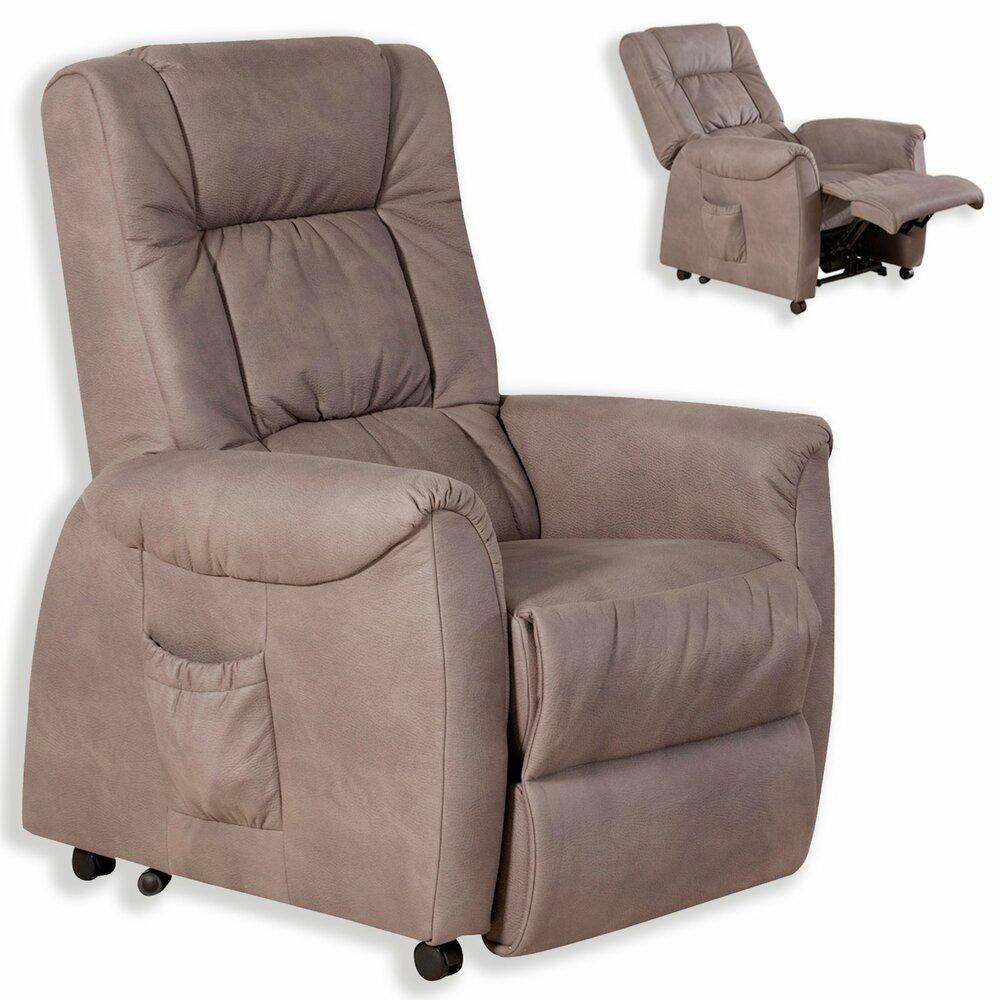 tv sessel braun kunstleder mit motor aufstehhilfe. Black Bedroom Furniture Sets. Home Design Ideas