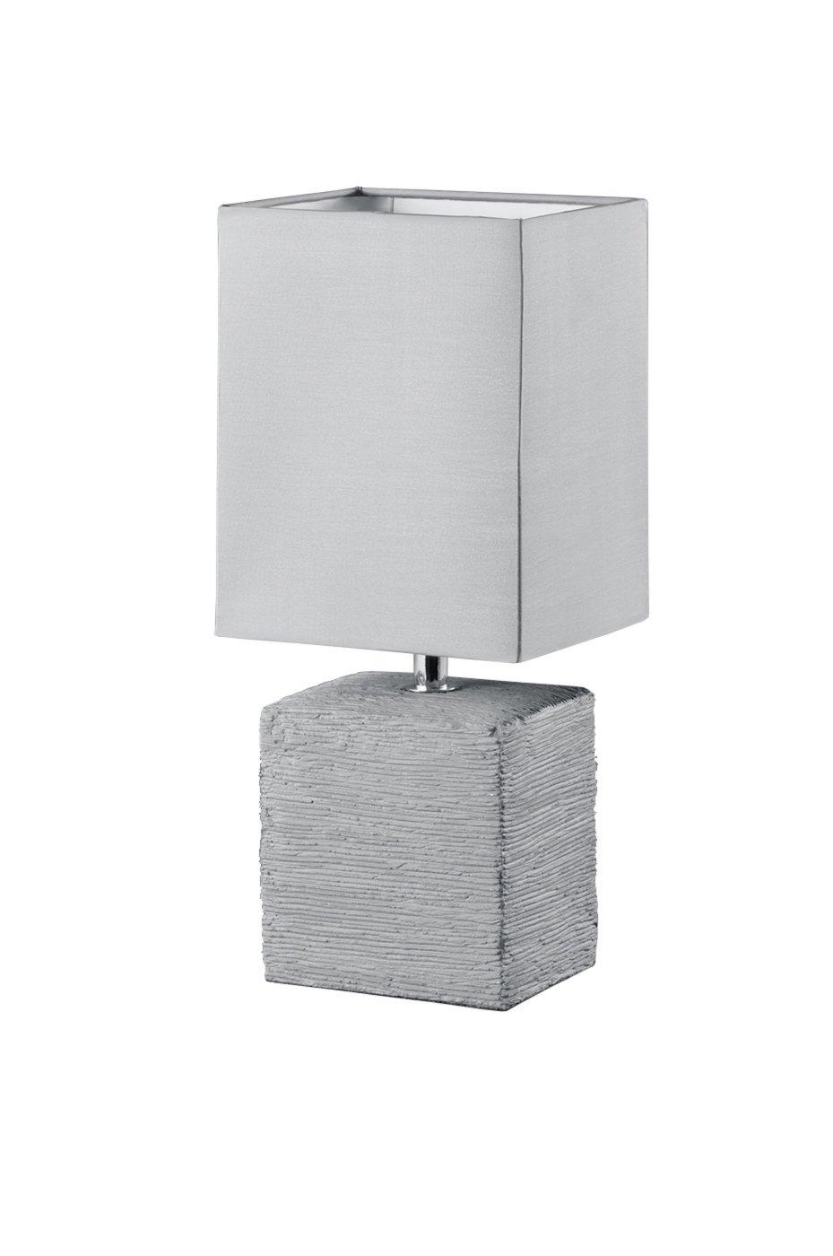 tischlampe ping titan grau keramik 1 flammig. Black Bedroom Furniture Sets. Home Design Ideas