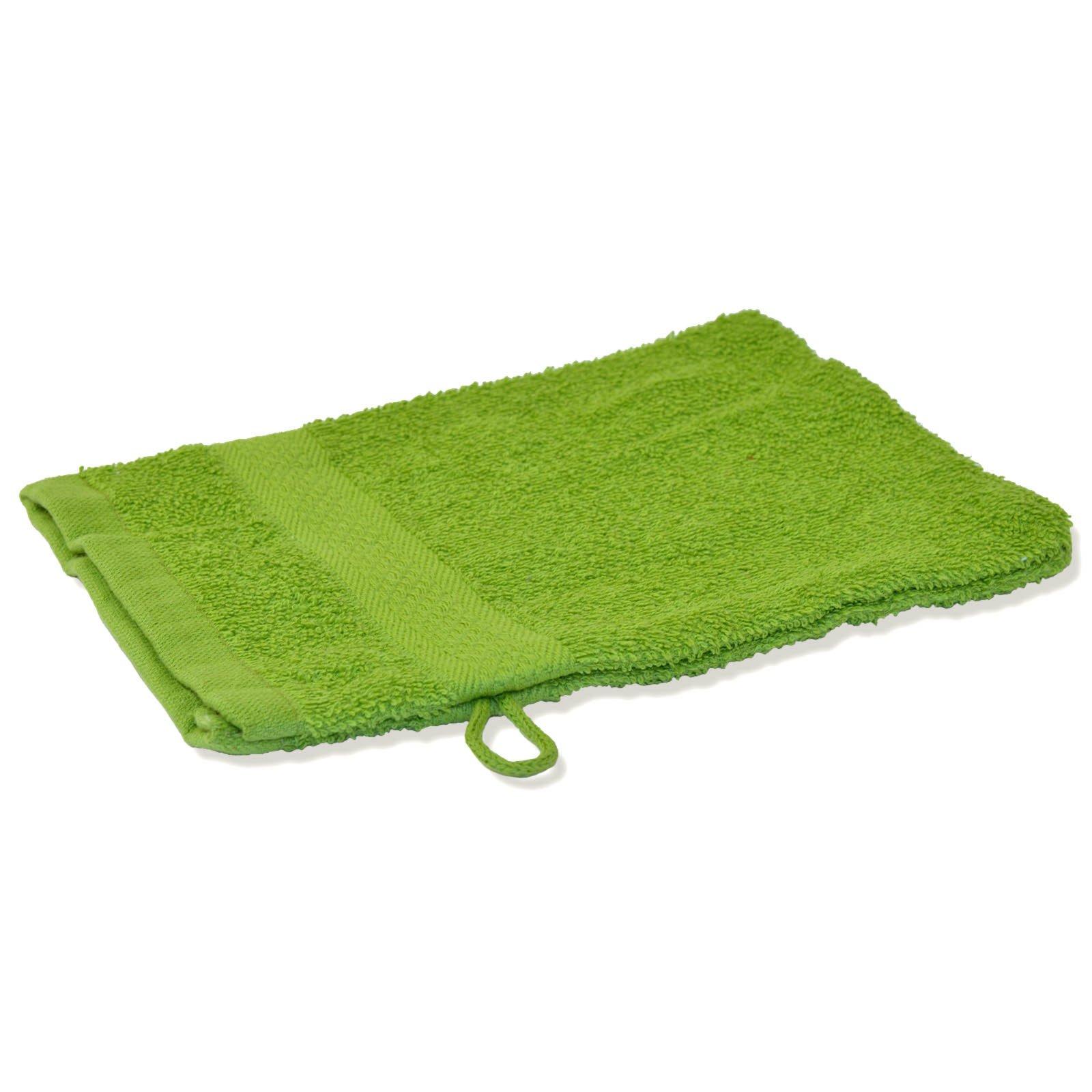 waschlappen premium gr n baumwolle waschhandschuhe waschlappen badtextilien bad. Black Bedroom Furniture Sets. Home Design Ideas