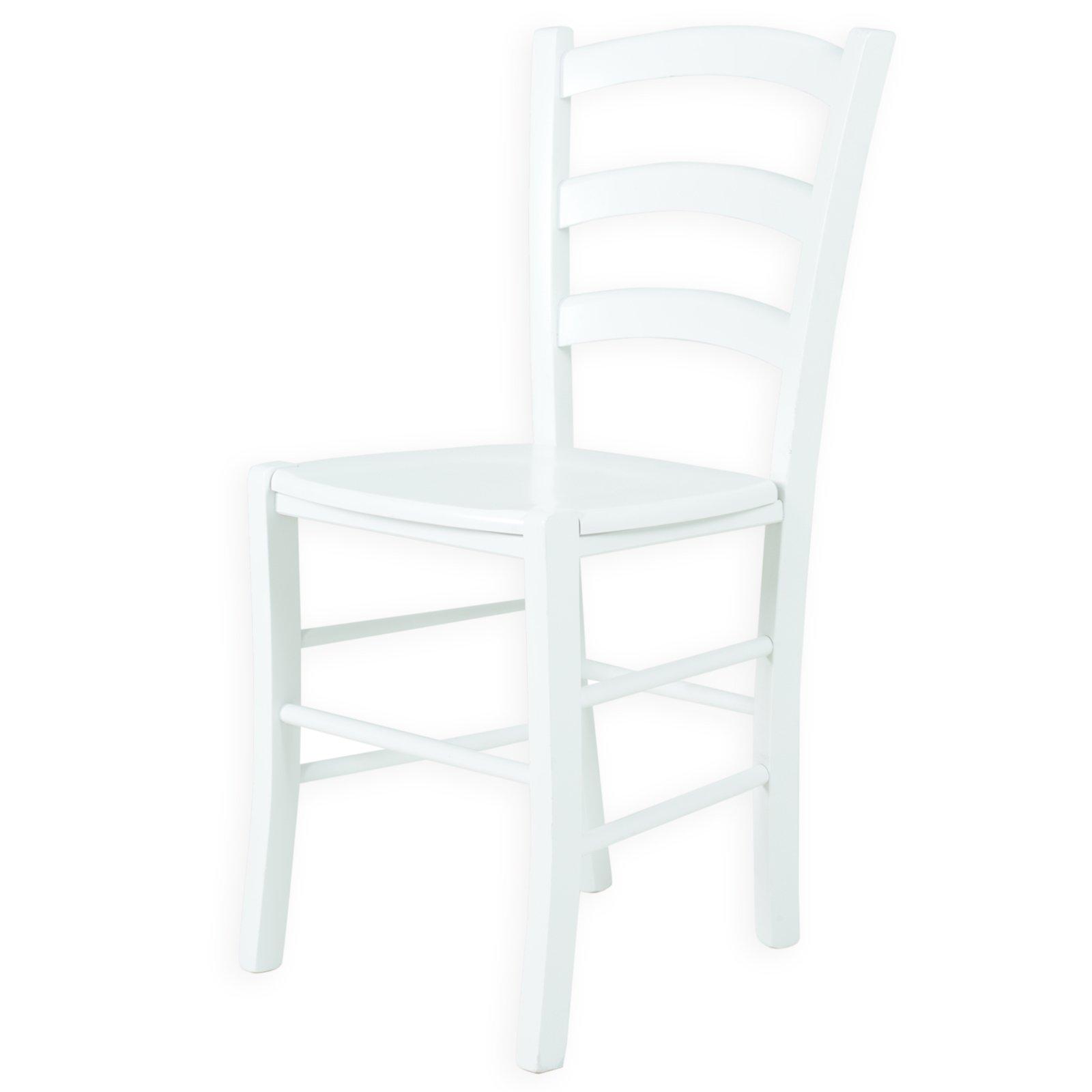Holzstuhl Weiß holzstuhl sorrento i weiß massivholz geformter sitz