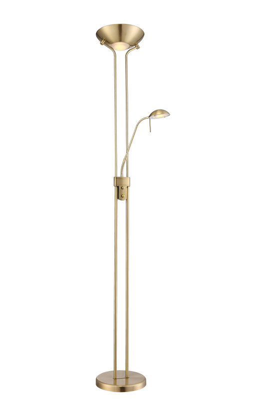 Stehlampe - messing - dimmbar - 180 cm hoch