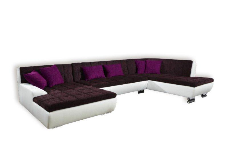 Wei lila sofa interessante ideen f r die for Lila wohnlandschaft