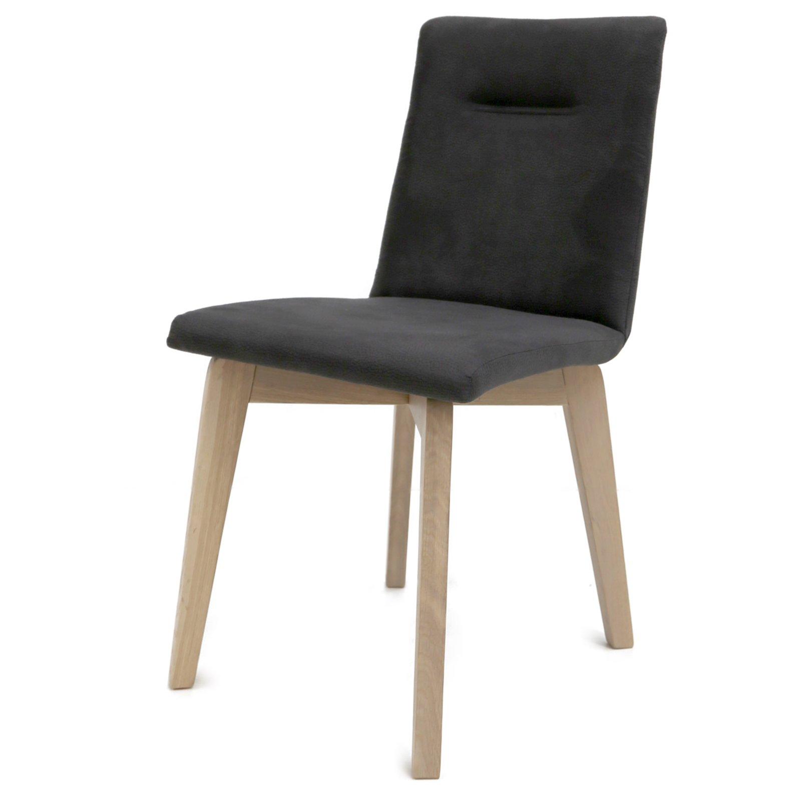 polsterstuhl rom anthrazit eiche bianco massiv. Black Bedroom Furniture Sets. Home Design Ideas