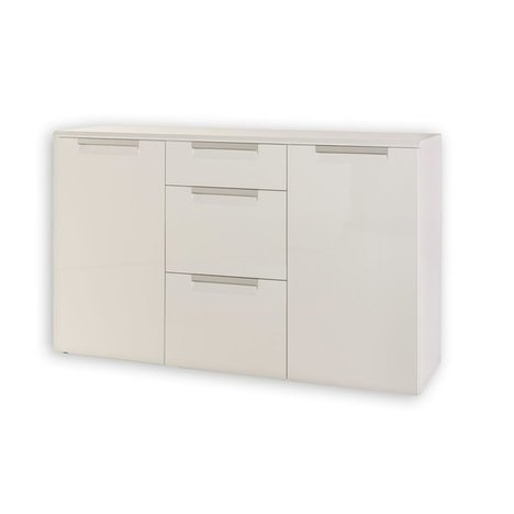 Sideboard alu line wei 135 cm breit kommoden for Sideboard 3 meter breit