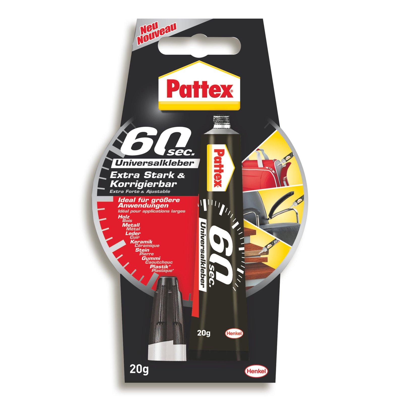 Pattex 60 Sekunden Universalkleber - wasserfest - 20 g