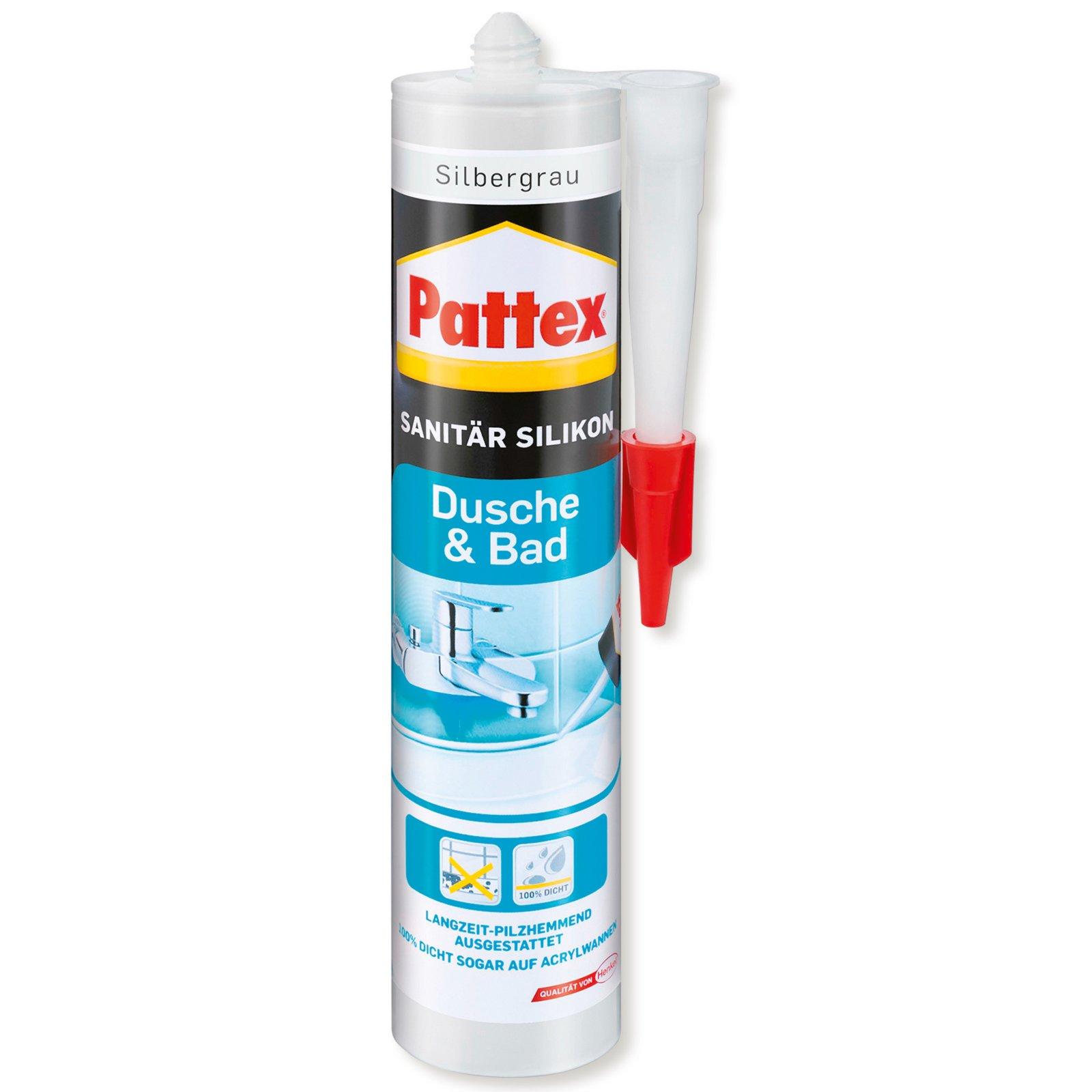 Pattex Sanitär Silikon - silbergrau - 310 g
