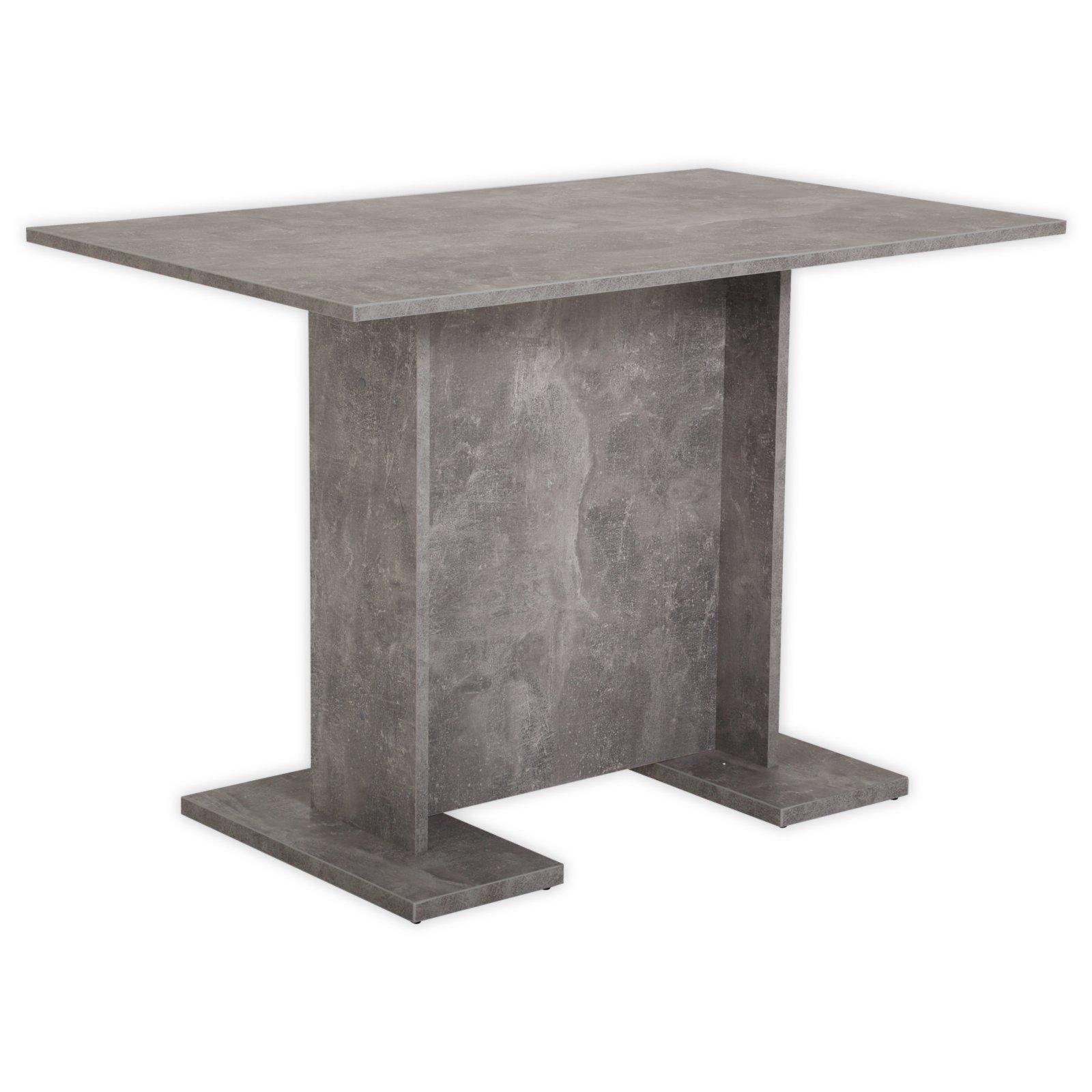 esstisch ines iii betonoptik 108 cm breit esstische sitzen essen esszimmer. Black Bedroom Furniture Sets. Home Design Ideas