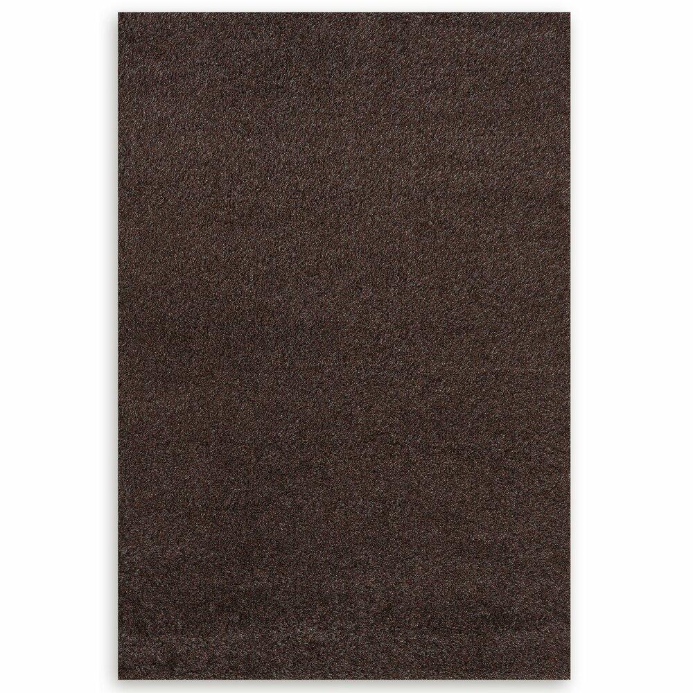 hochflor teppich shaggy braun 160x230 cm hochflor shaggyteppiche teppiche l ufer. Black Bedroom Furniture Sets. Home Design Ideas