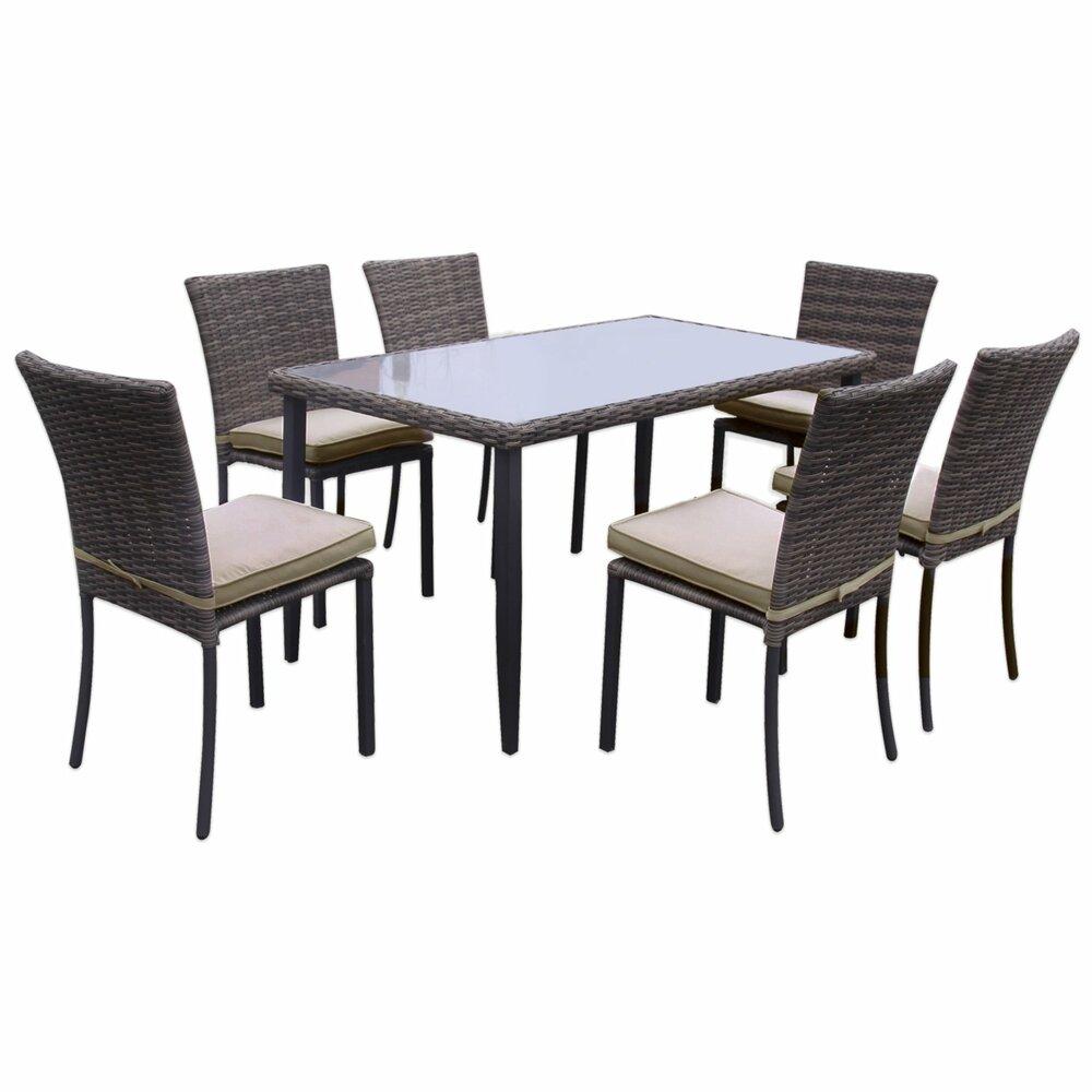 Garten-Sitzgruppe VALENCIA - braun - Rattan-Optik | Gartenmöbel-Sets ...